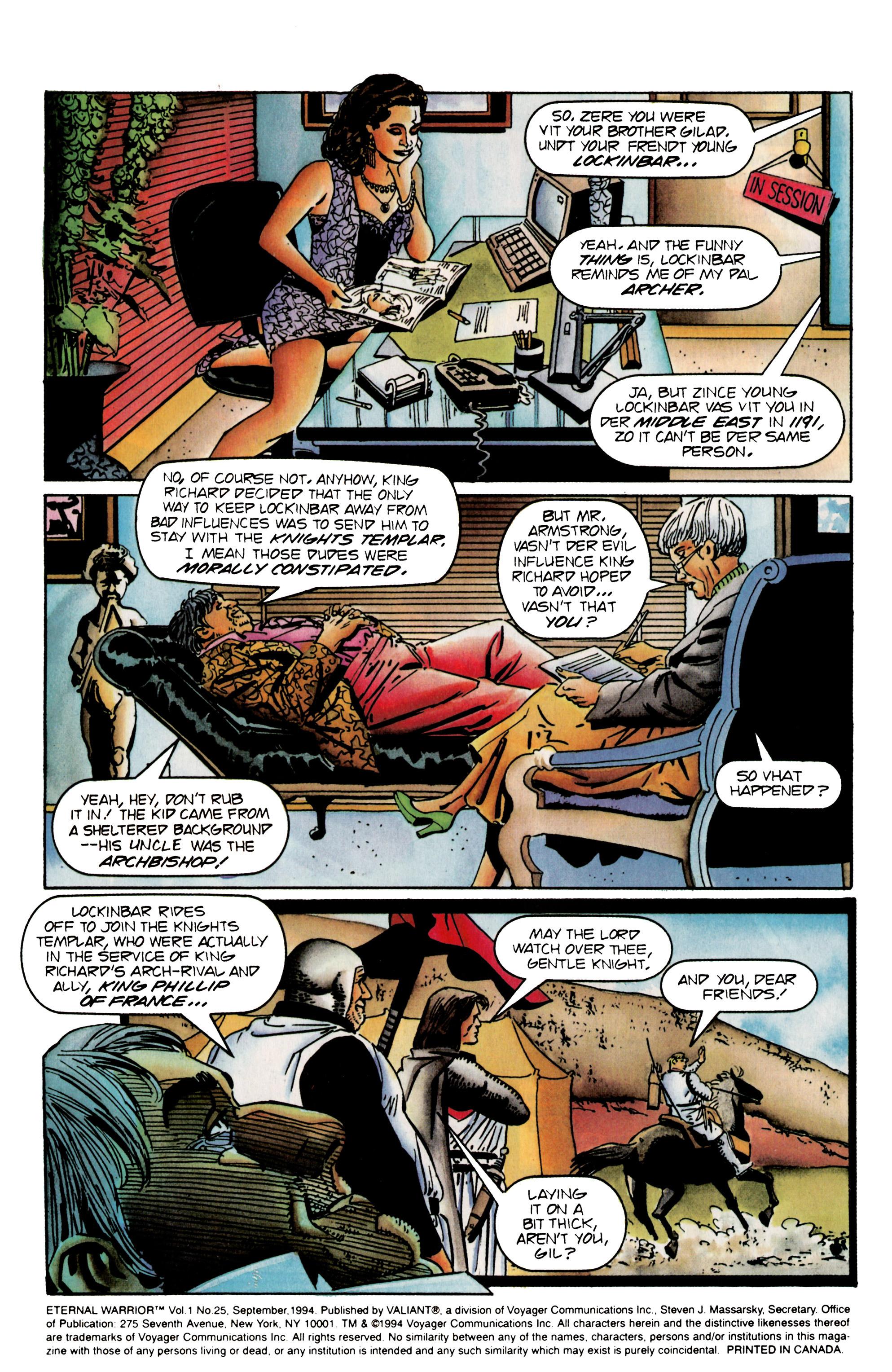 Read online Eternal Warrior (1992) comic -  Issue #25 - 3