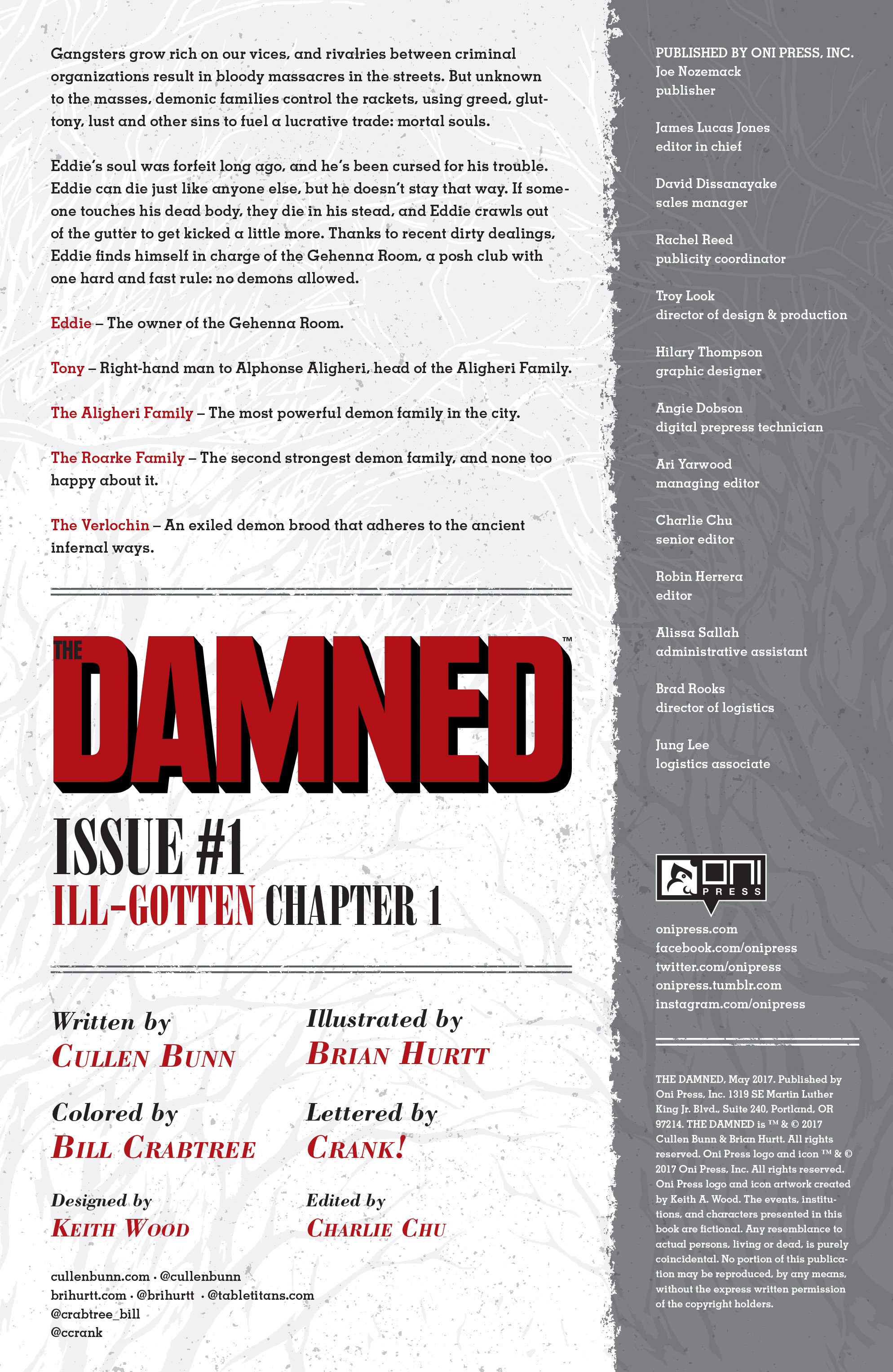 Read online The Damned comic -  Issue #1 - 2