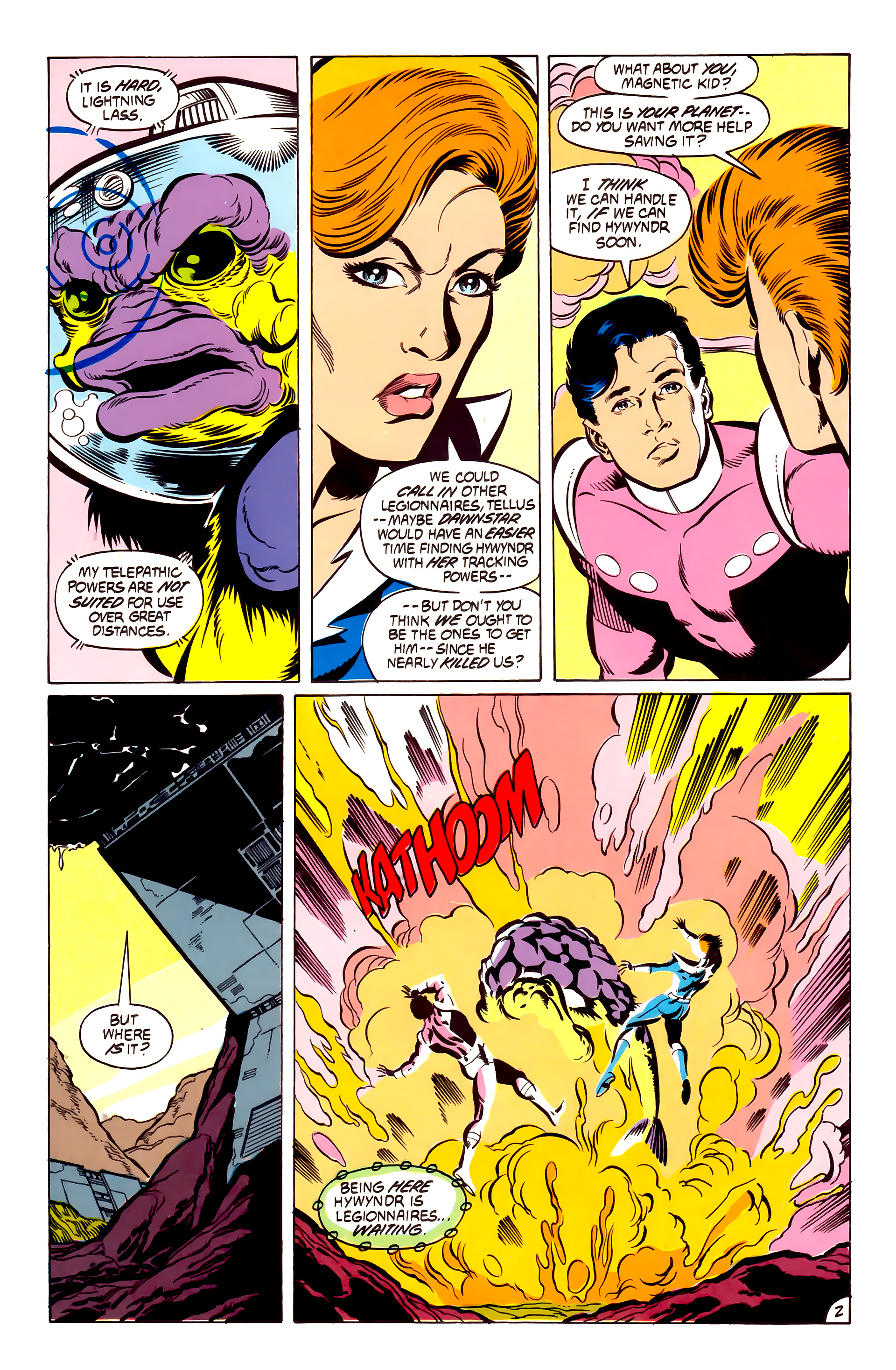 Legion of Super-Heroes (1984) 53 Page 2