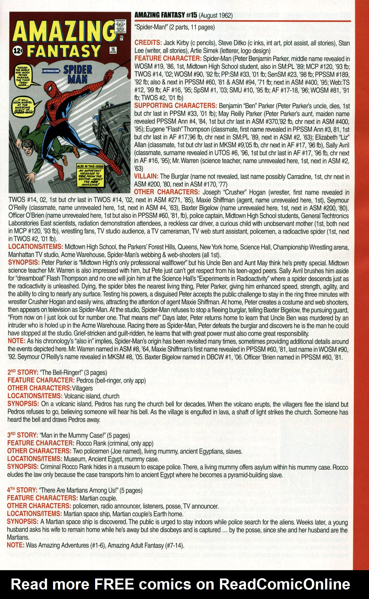 Read online Official Index to the Marvel Universe comic -  Issue #1 - 3