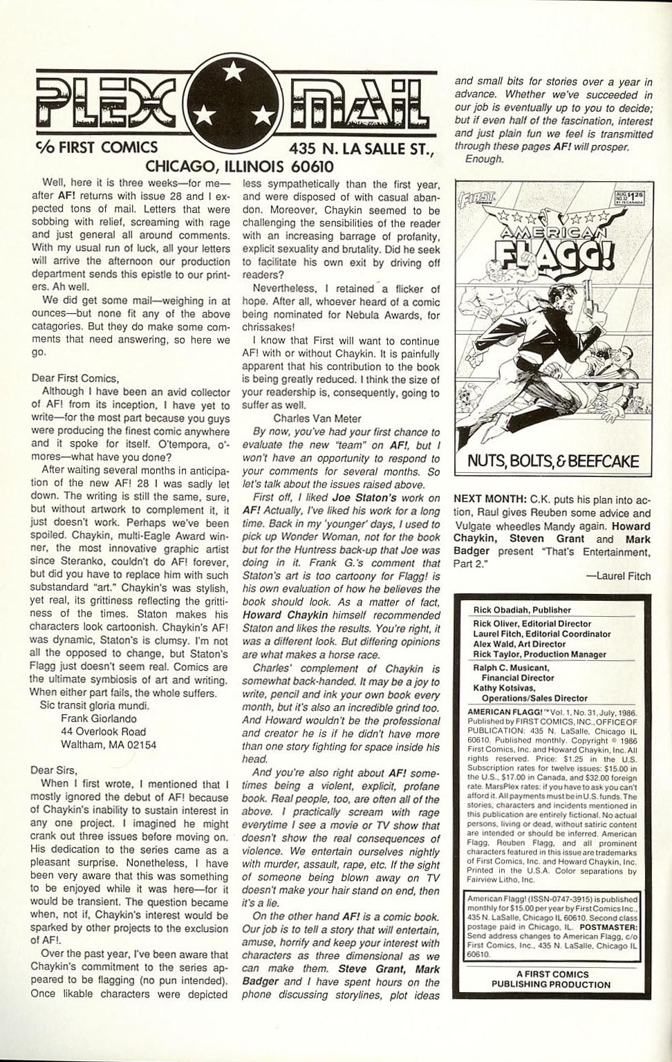 Read online American Flagg! comic -  Issue #31 - 2
