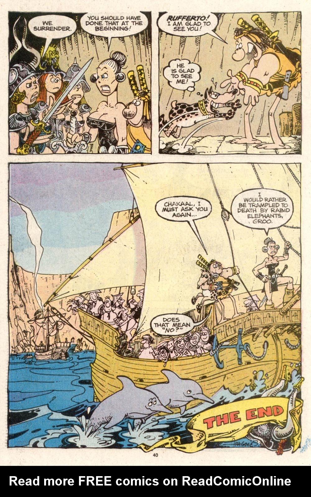 Read online Sergio Aragonés Groo the Wanderer comic -  Issue #50 - 41