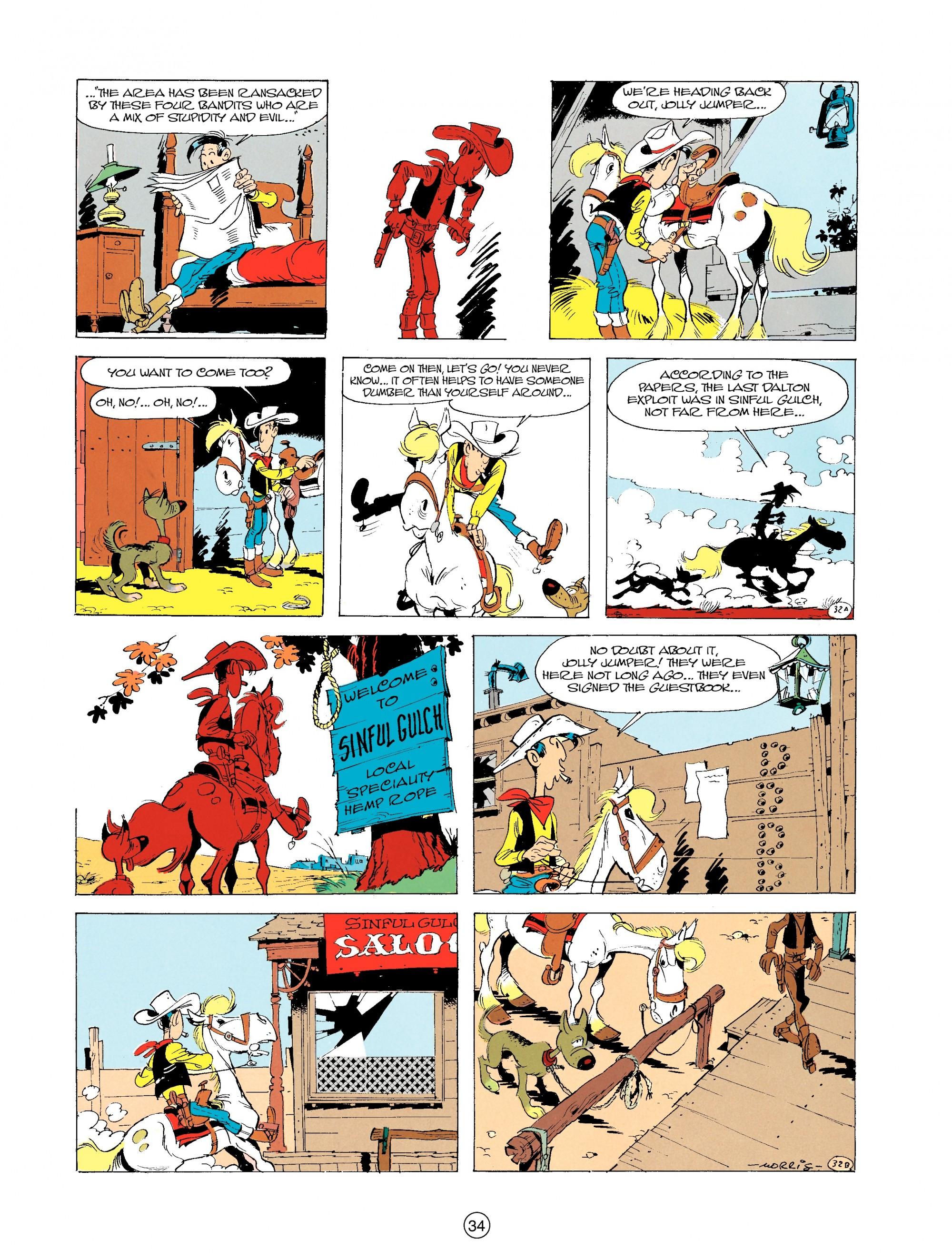 Read online A Lucky Luke Adventure comic -  Issue #19 - 34