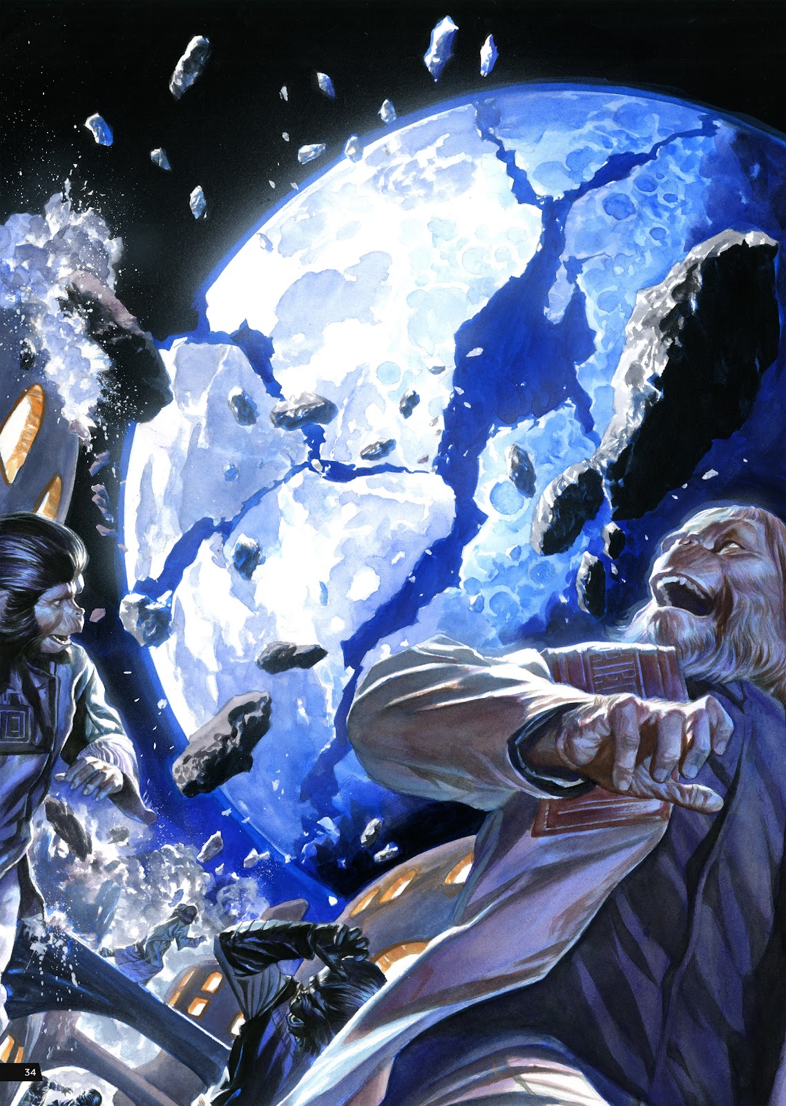 Read online Planet of the Apes Artist Tribute comic -  Issue # TPB - 34