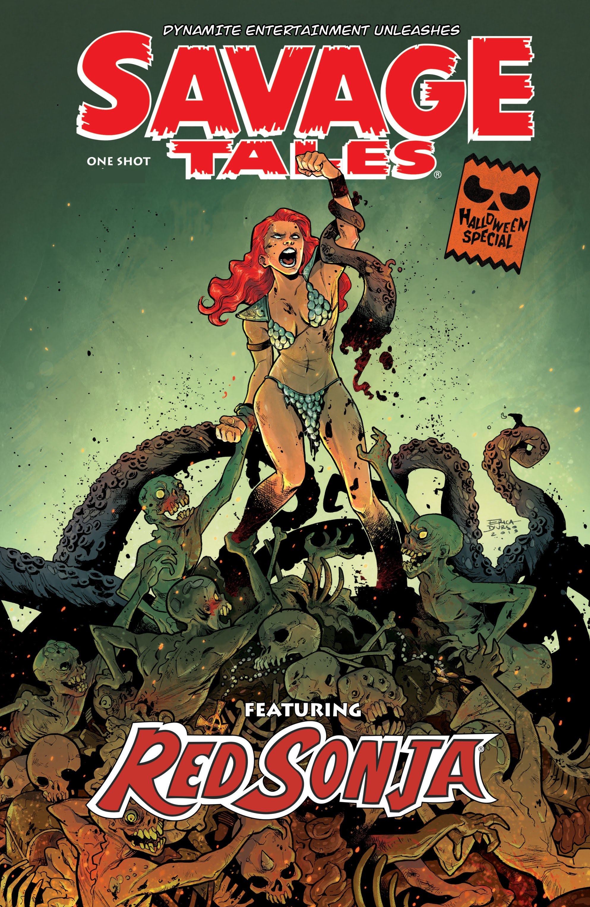 Savage Tales: A Red Sonja Halloween Special Full Page 1