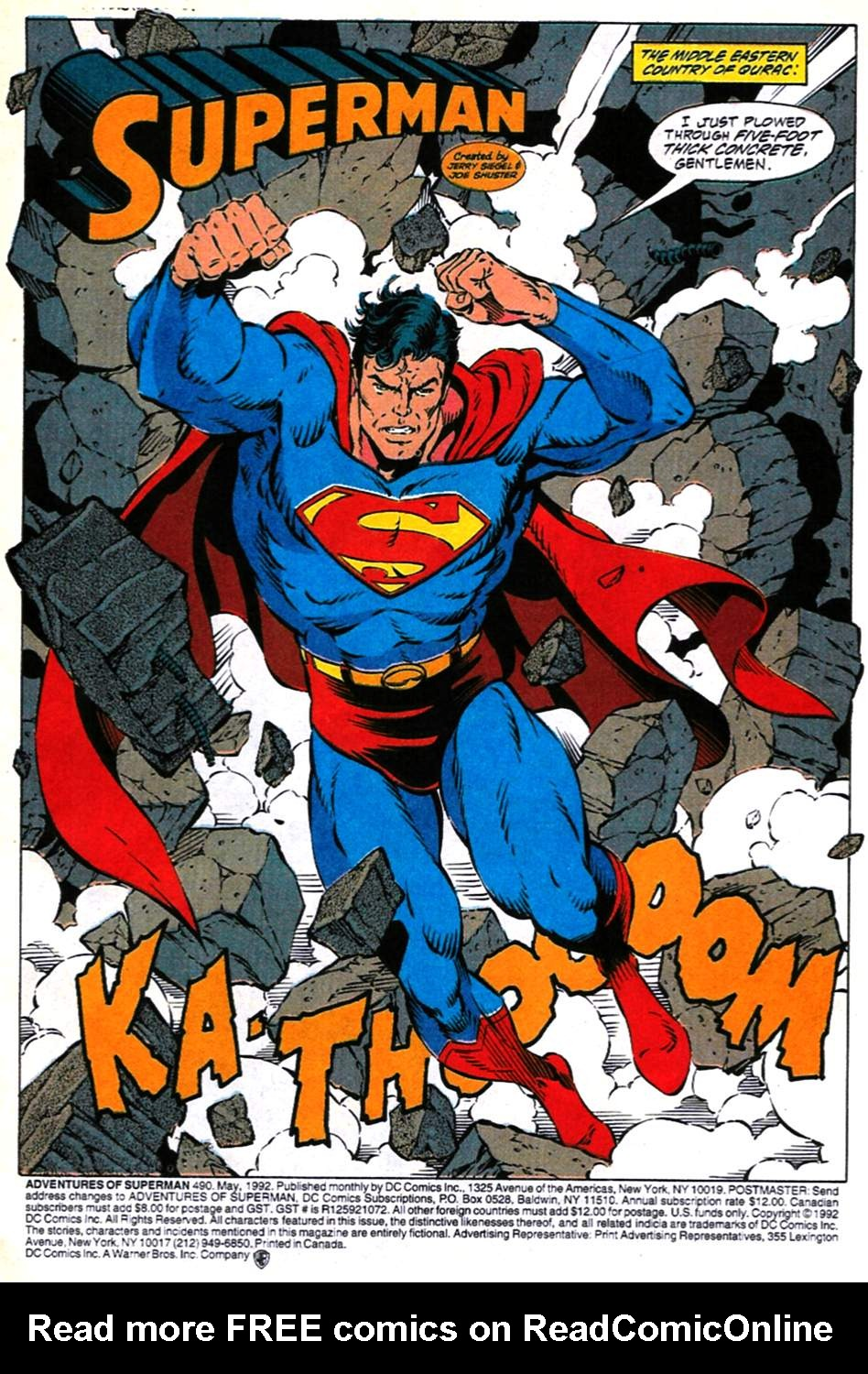 Read online Adventures of Superman (1987) comic -  Issue #490 - 2