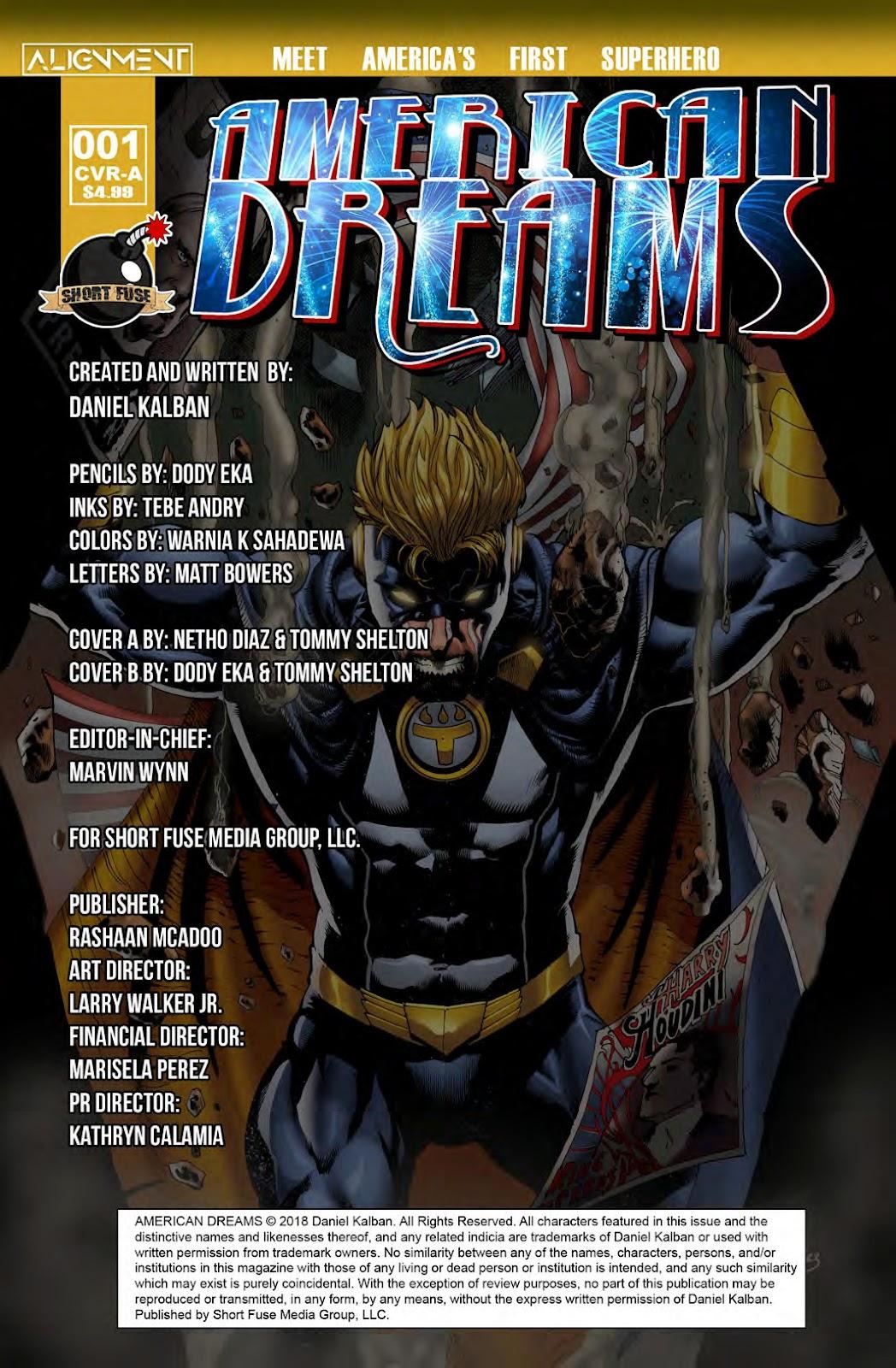 Read online American Dreams comic -  Issue #1 - 2