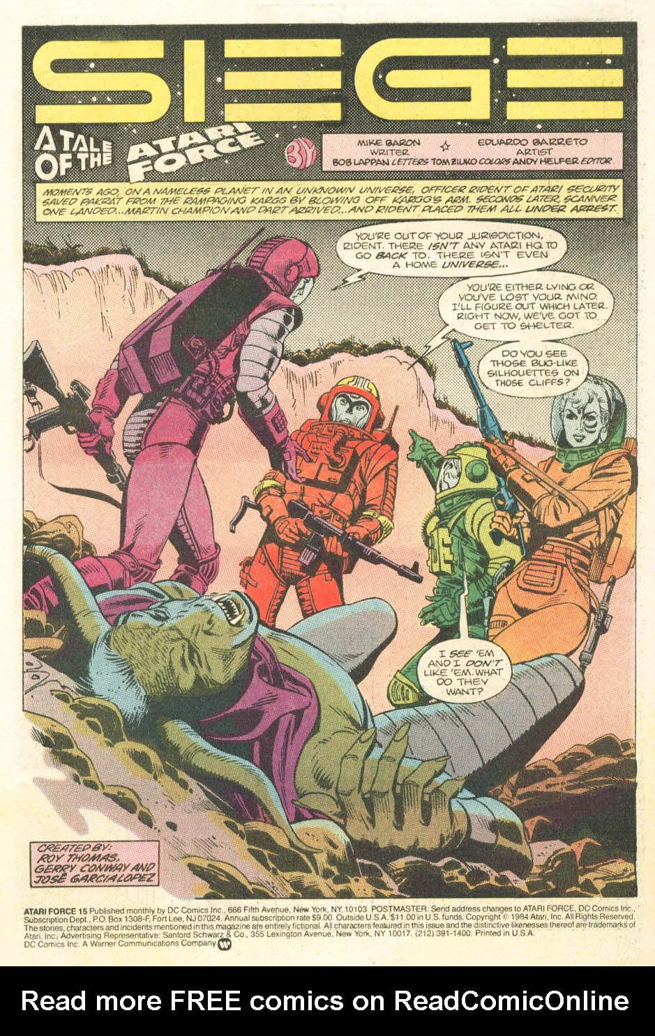 Read online Atari Force (1984) comic -  Issue #15 - 3
