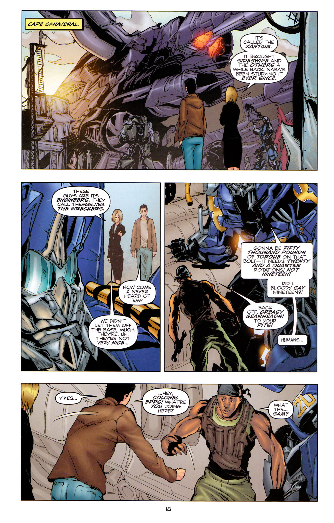 Read online Transformers: Dark of the Moon Movie Adaptation comic -  Issue #3 - 20
