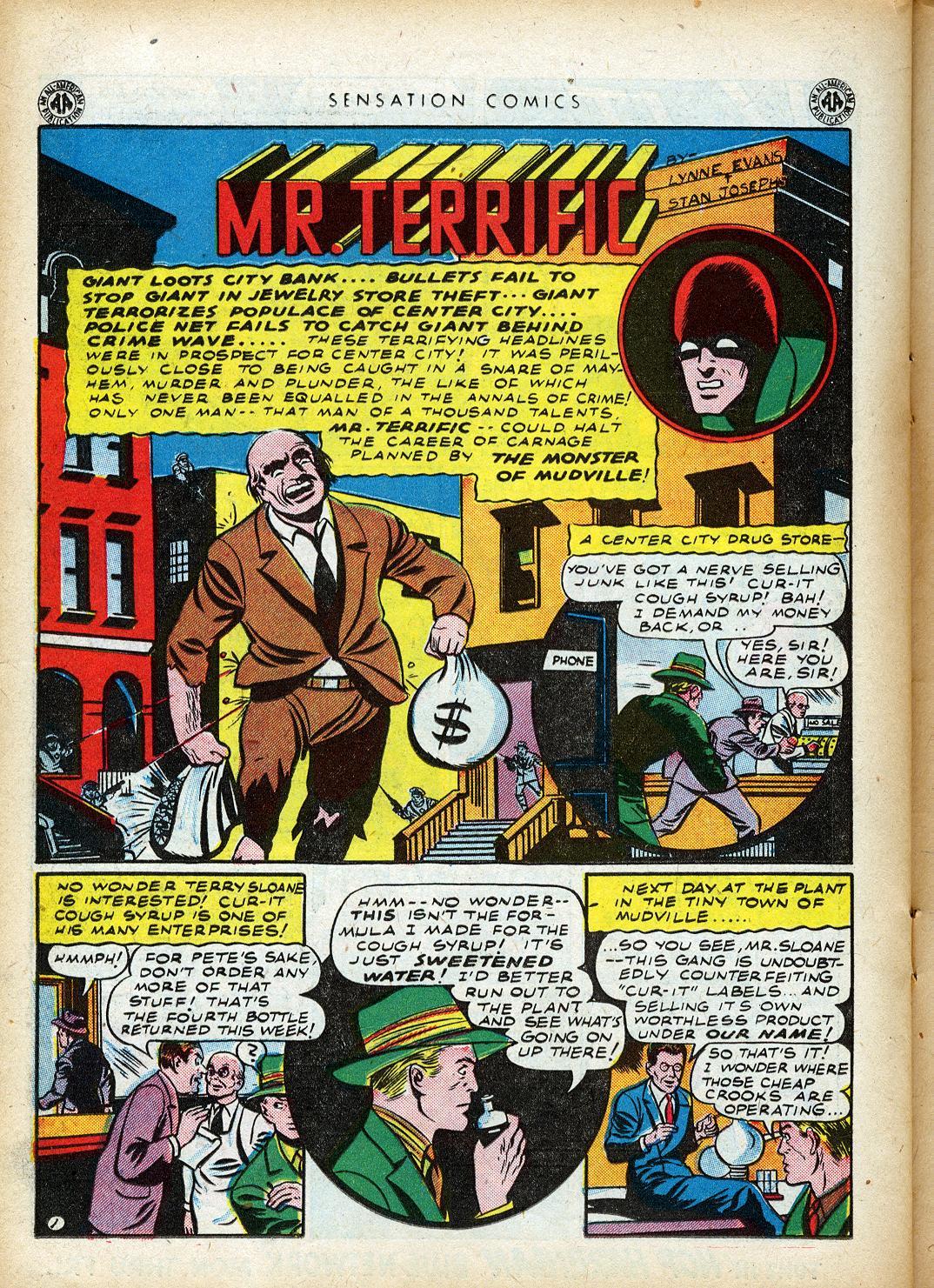 Read online Sensation (Mystery) Comics comic -  Issue #40 - 32