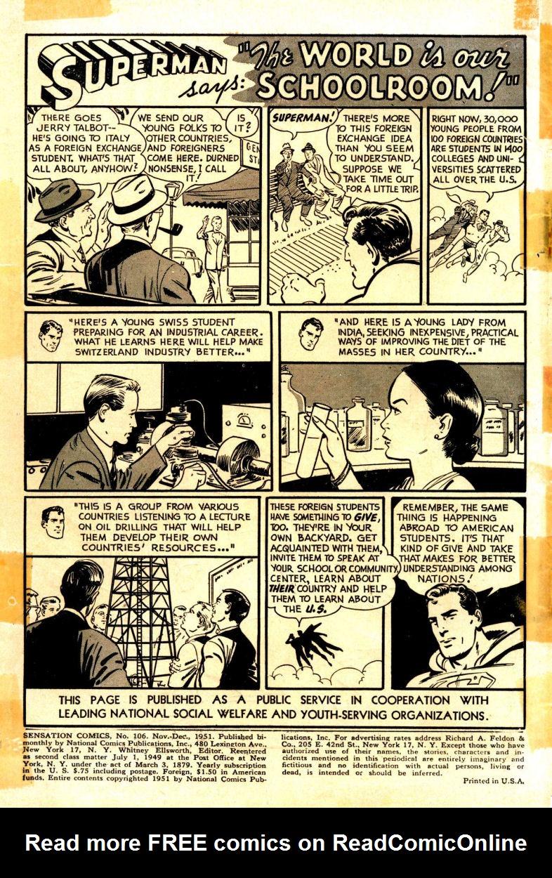 Read online Sensation (Mystery) Comics comic -  Issue #106 - 2