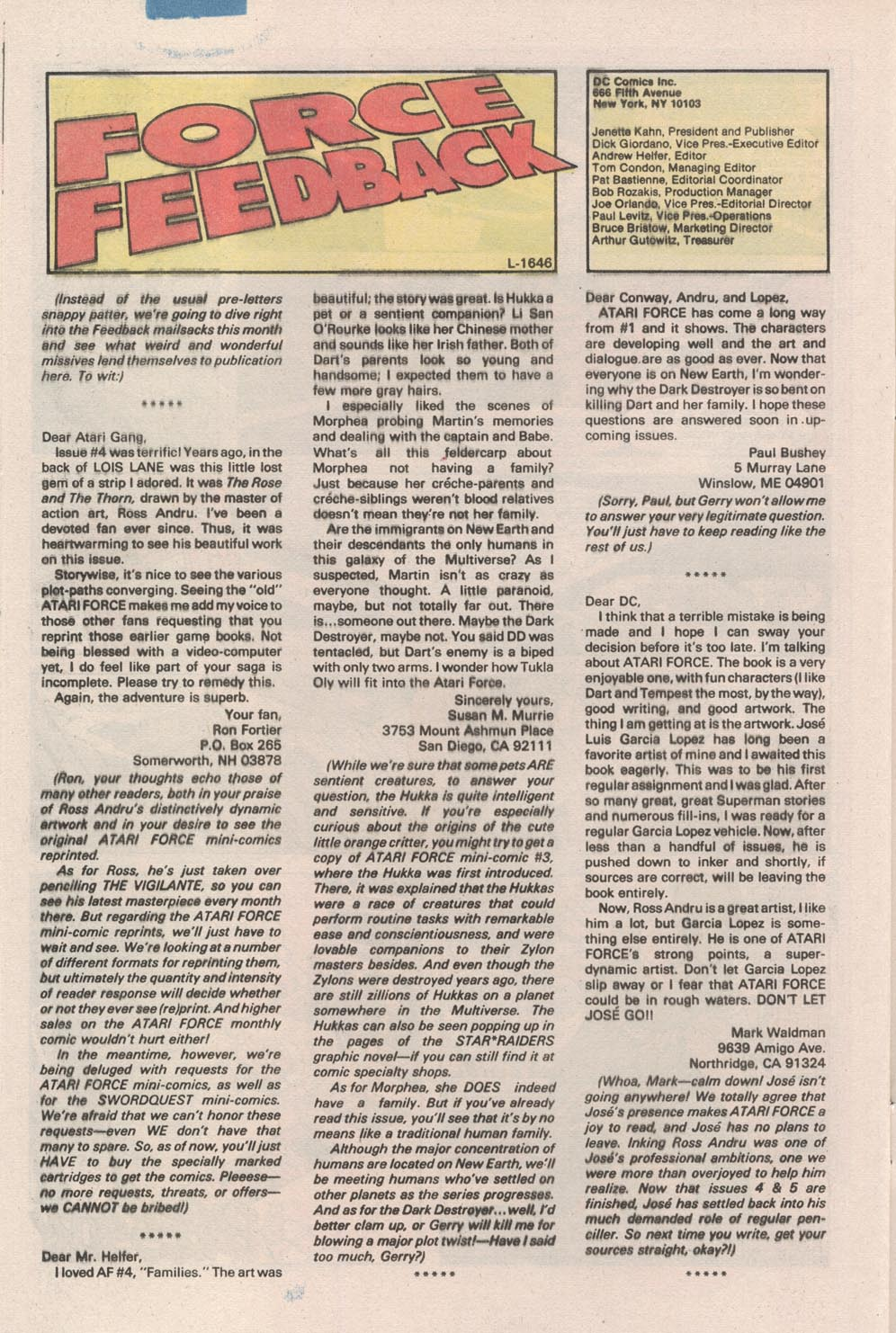 Read online Atari Force (1984) comic -  Issue #7 - 25