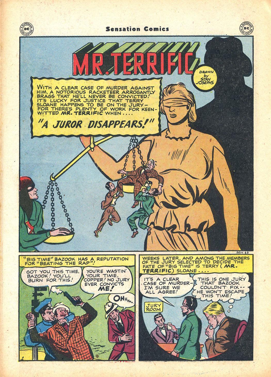 Read online Sensation (Mystery) Comics comic -  Issue #63 - 32