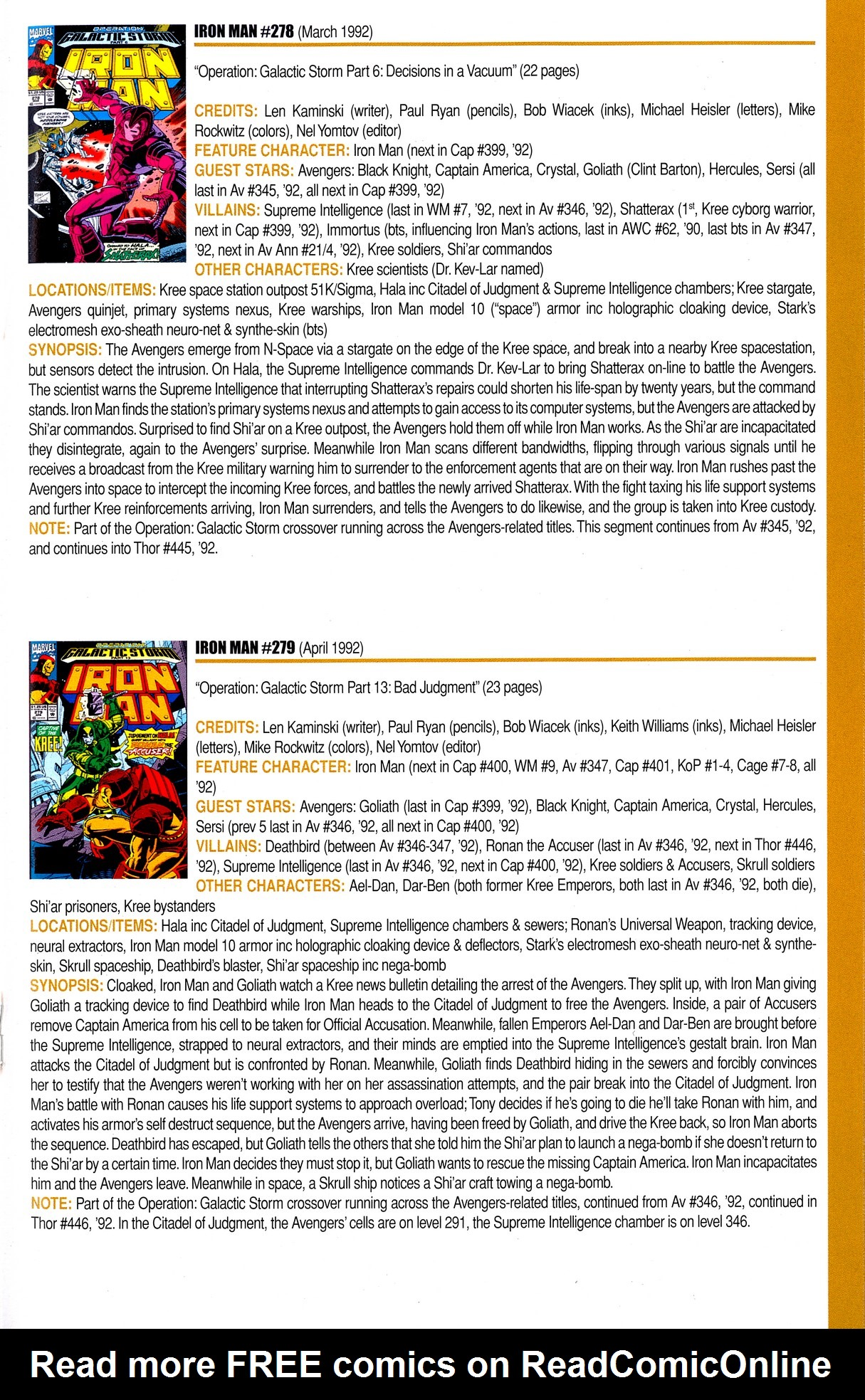 Read online Official Index to the Marvel Universe comic -  Issue #8 - 35