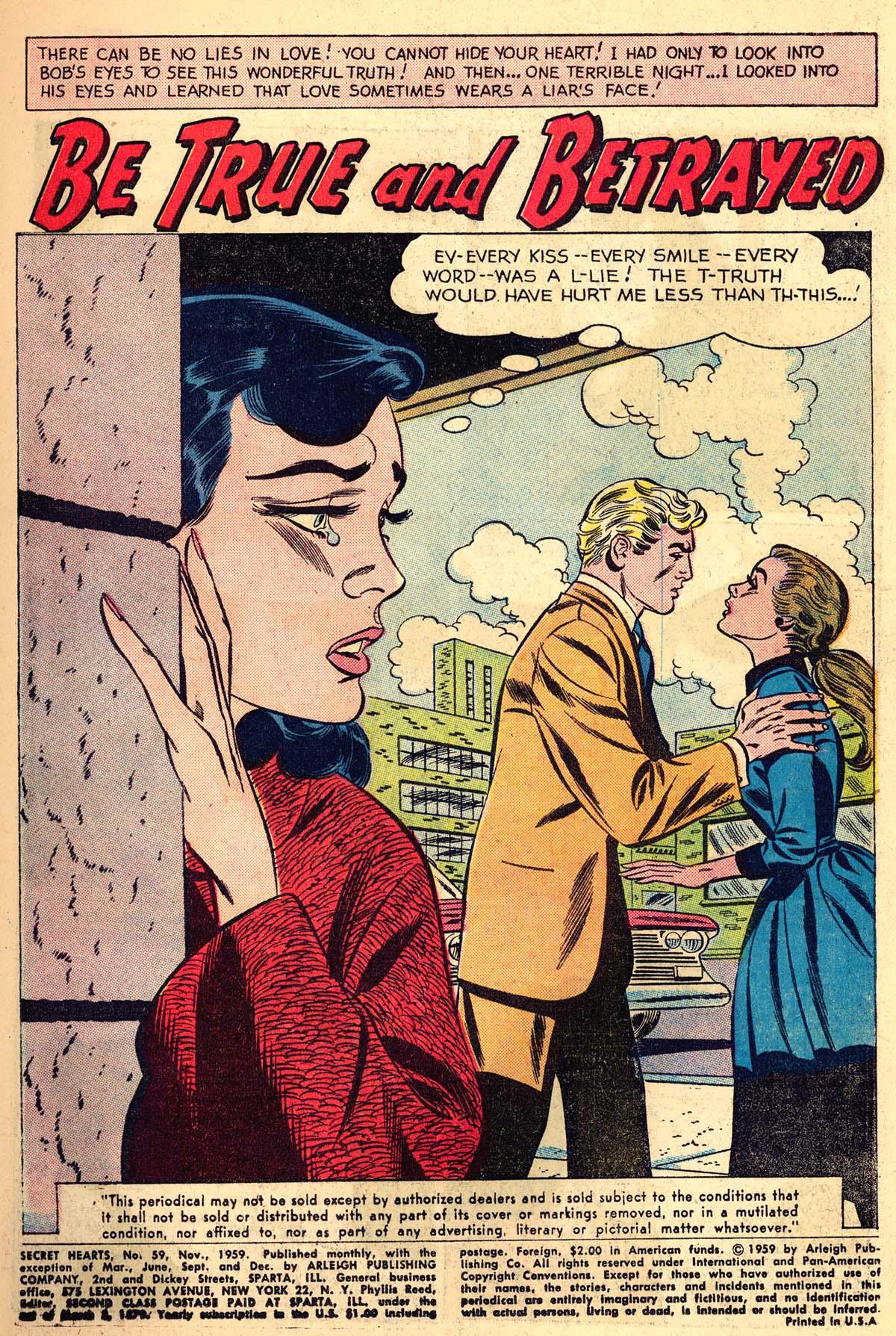 Read online Secret Hearts comic -  Issue #59 - 3