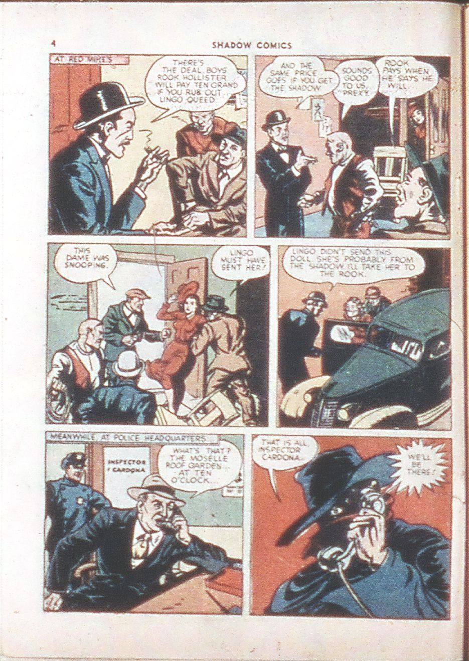 Read online Shadow Comics comic -  Issue #6 - 6