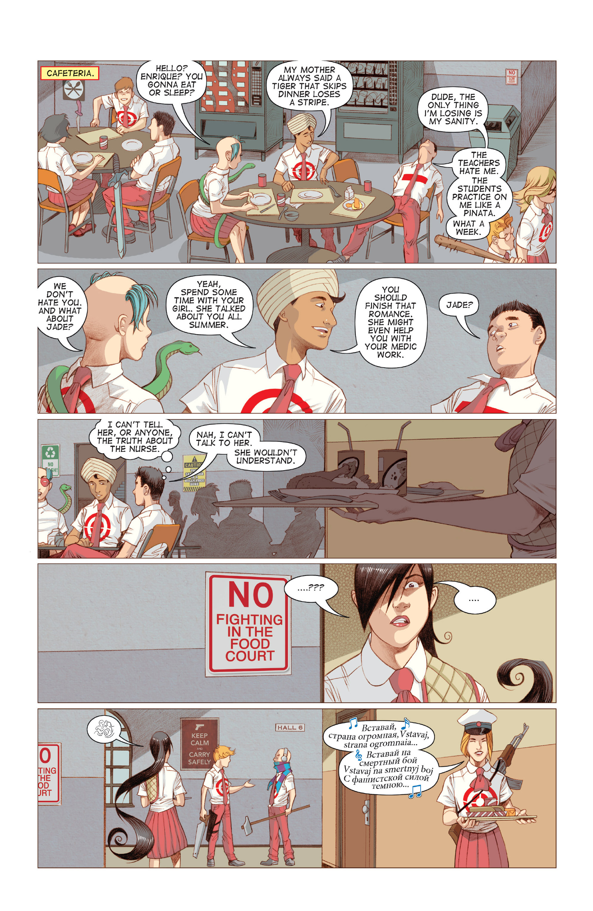Read online Five Weapons comic -  Issue #6 - 16