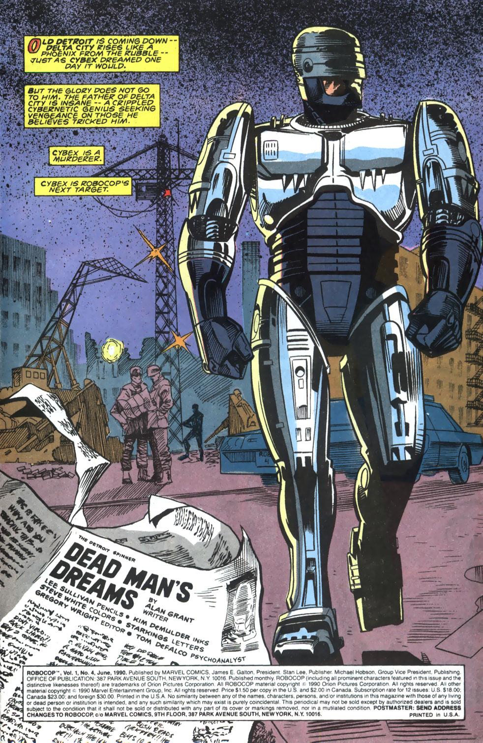 Read online Robocop (1990) comic -  Issue #4 - 2