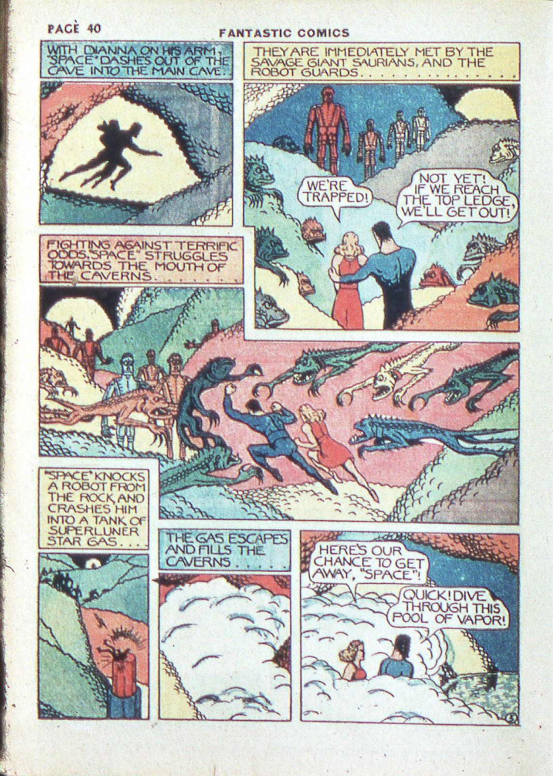 Read online Fantastic Comics comic -  Issue #3 - 42