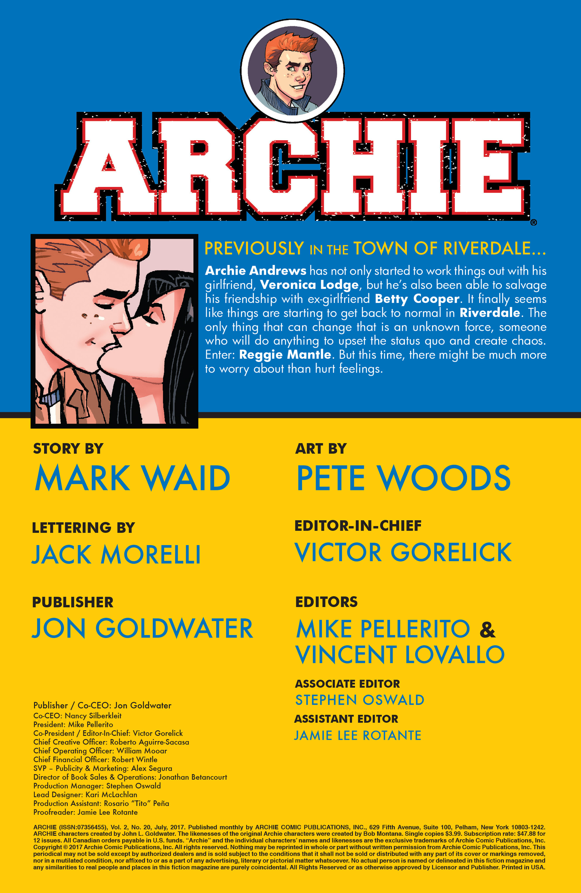 Read online Archie (2015) comic -  Issue #20 - 2