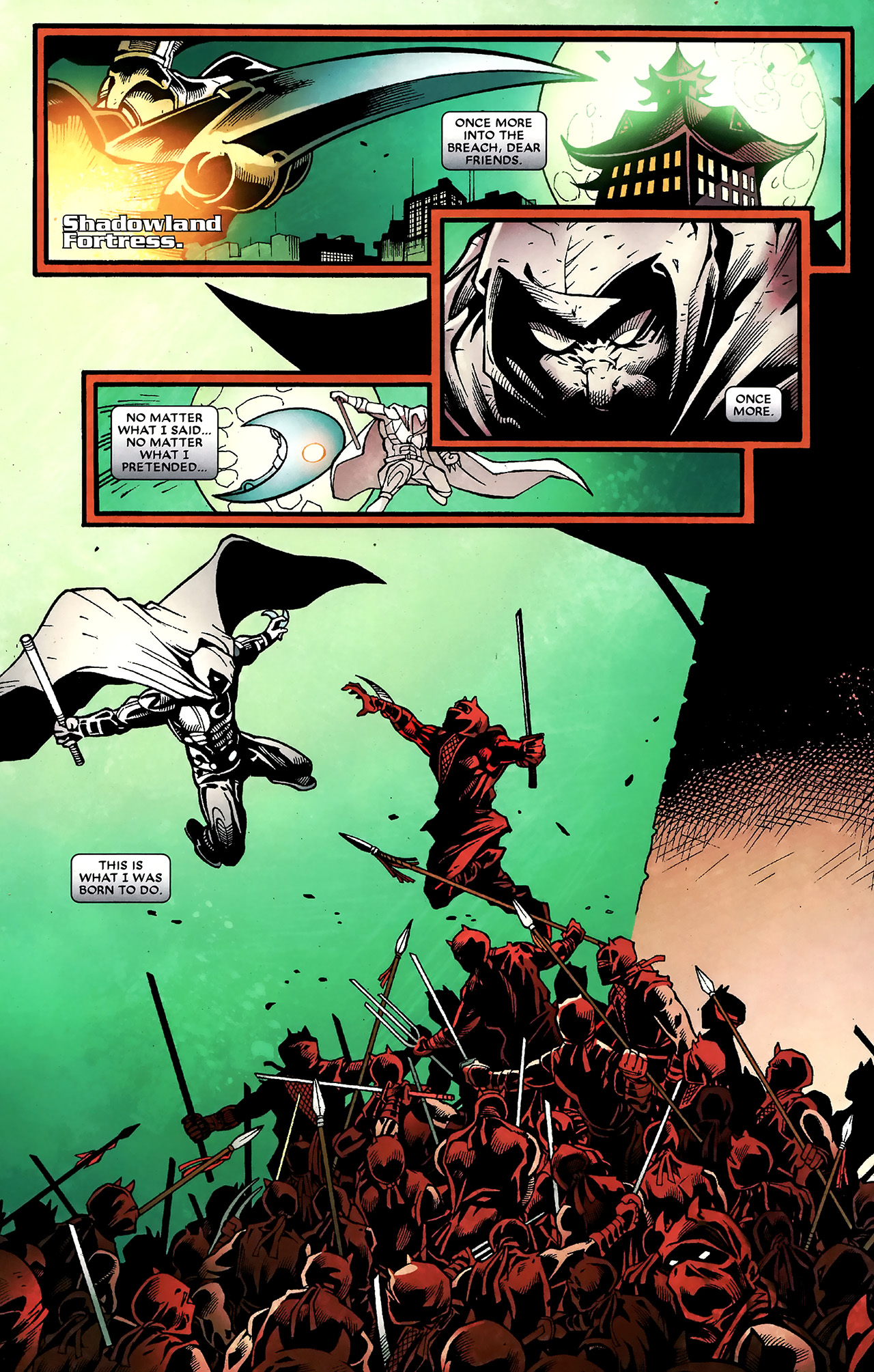 Read online Shadowland: Moon Knight comic -  Issue #3 - 23