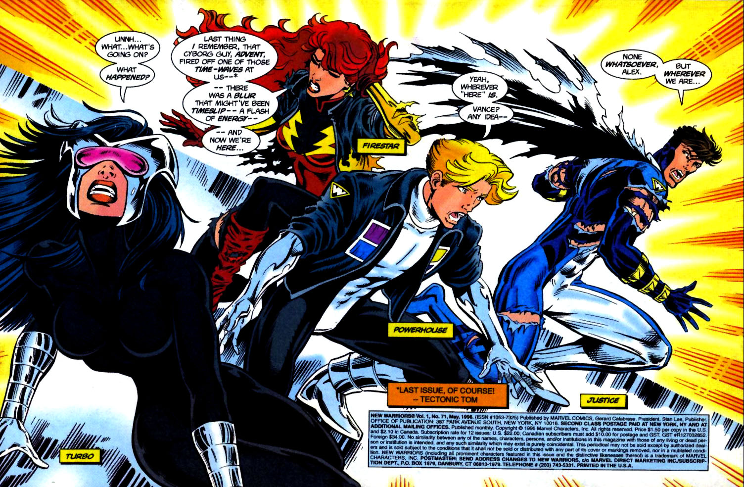 The New Warriors Issue #71 #75 - English 2