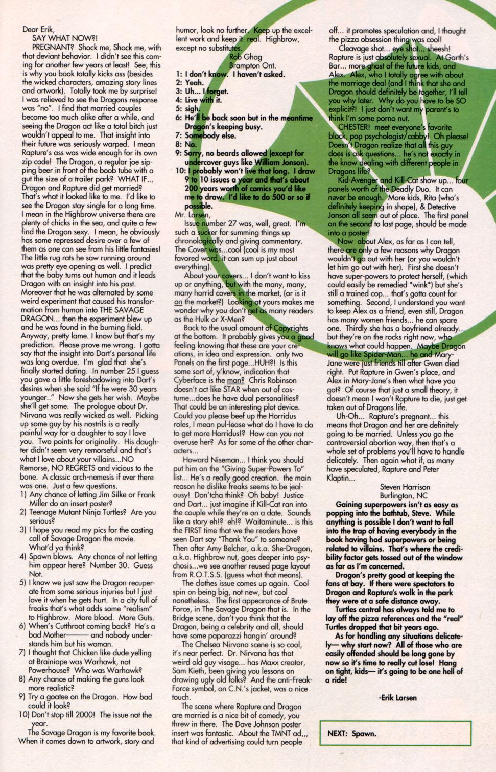 The Savage Dragon (1993) Issue #29 #32 - English 30