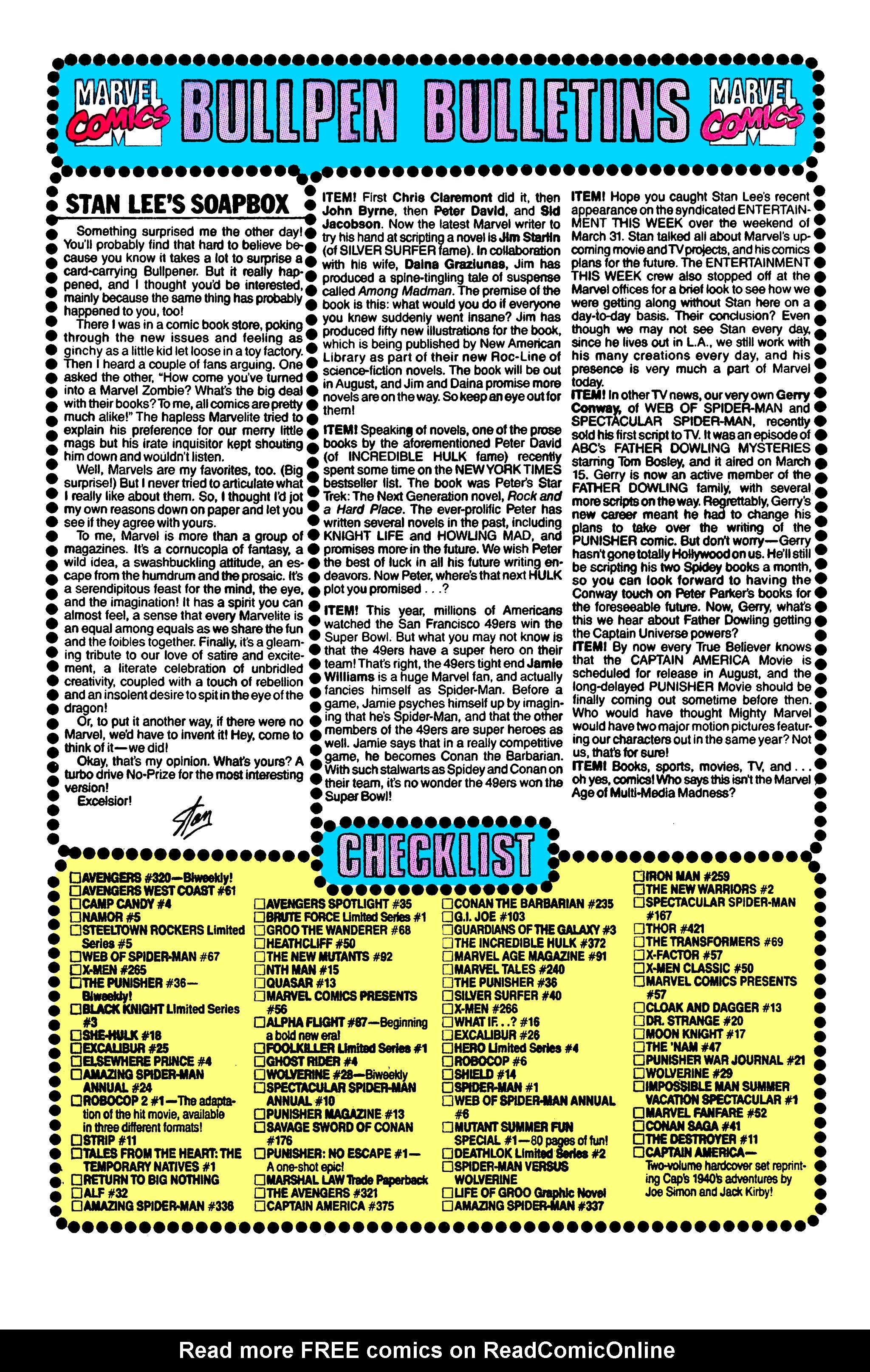 Read online Uncanny X-Men (1963) comic -  Issue #263 - 21