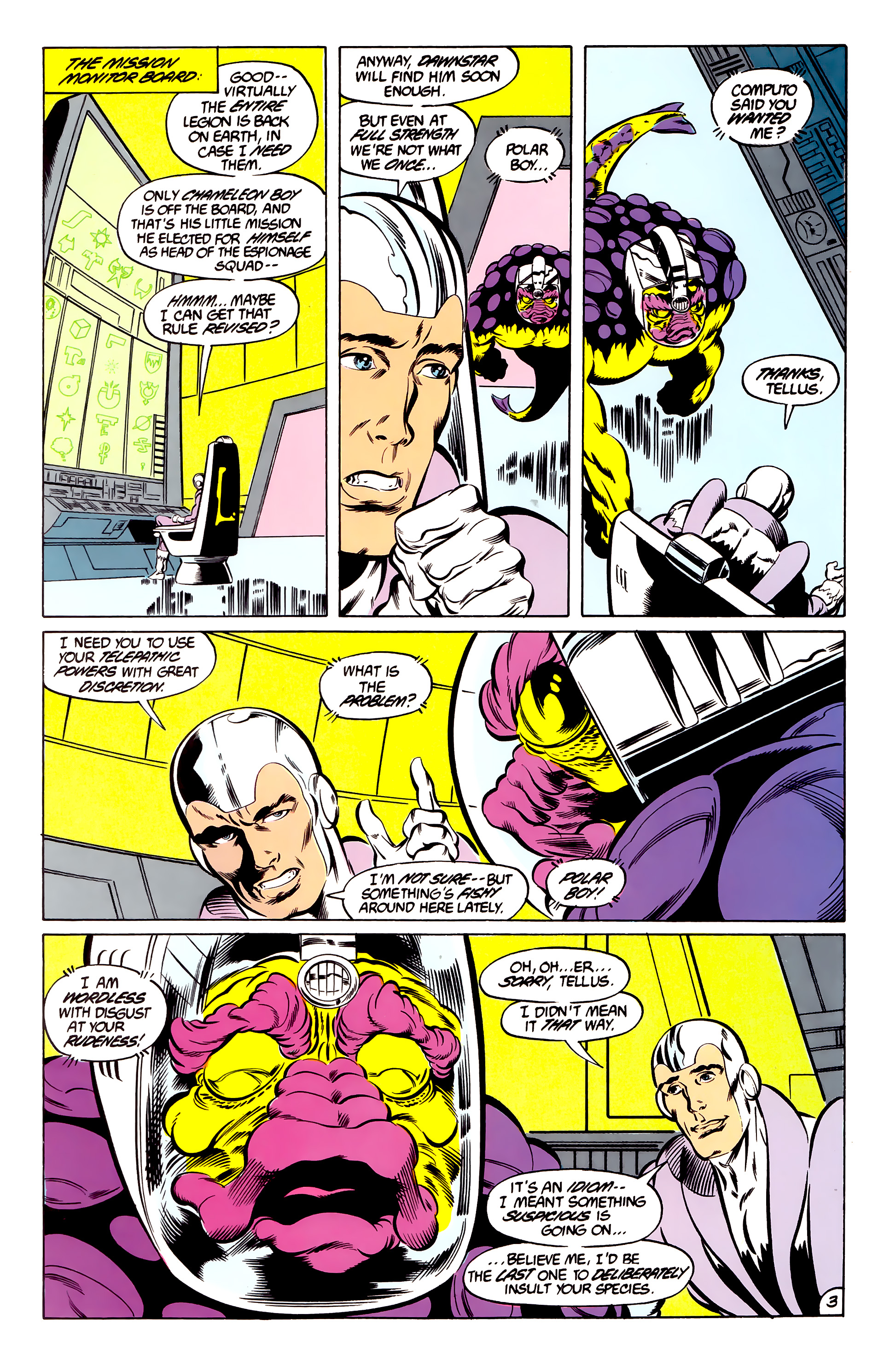 Legion of Super-Heroes (1984) 46 Page 3