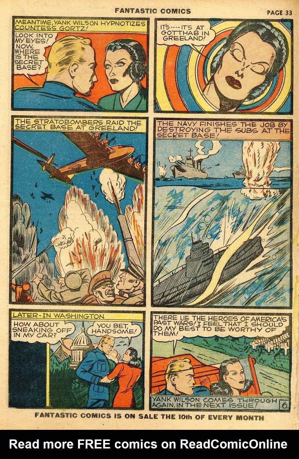 Read online Fantastic Comics comic -  Issue #10 - 34