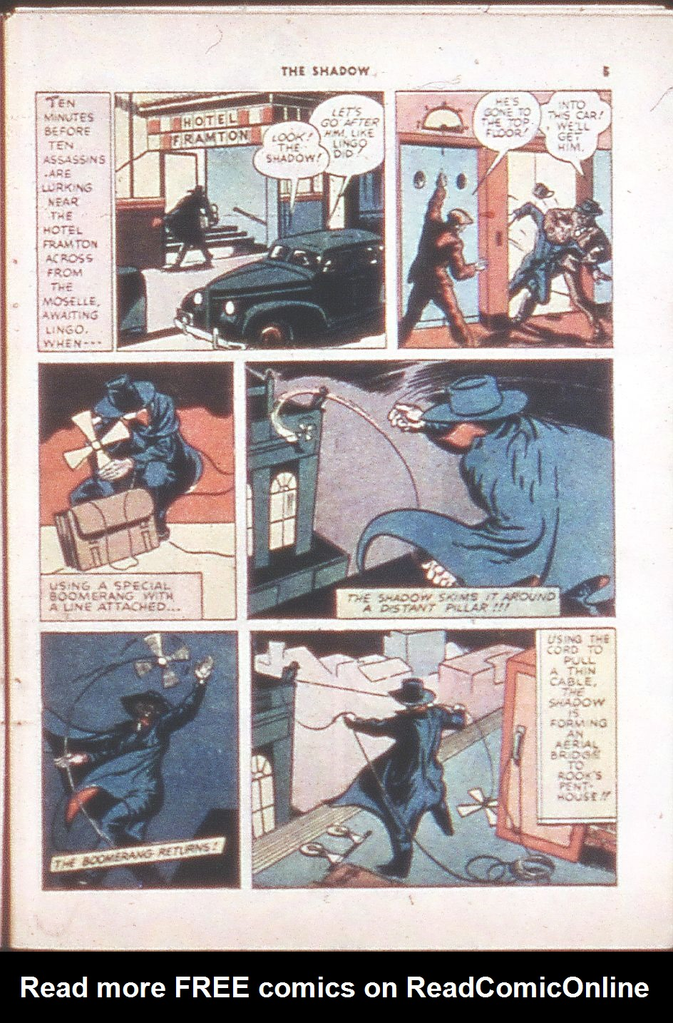Read online Shadow Comics comic -  Issue #6 - 7