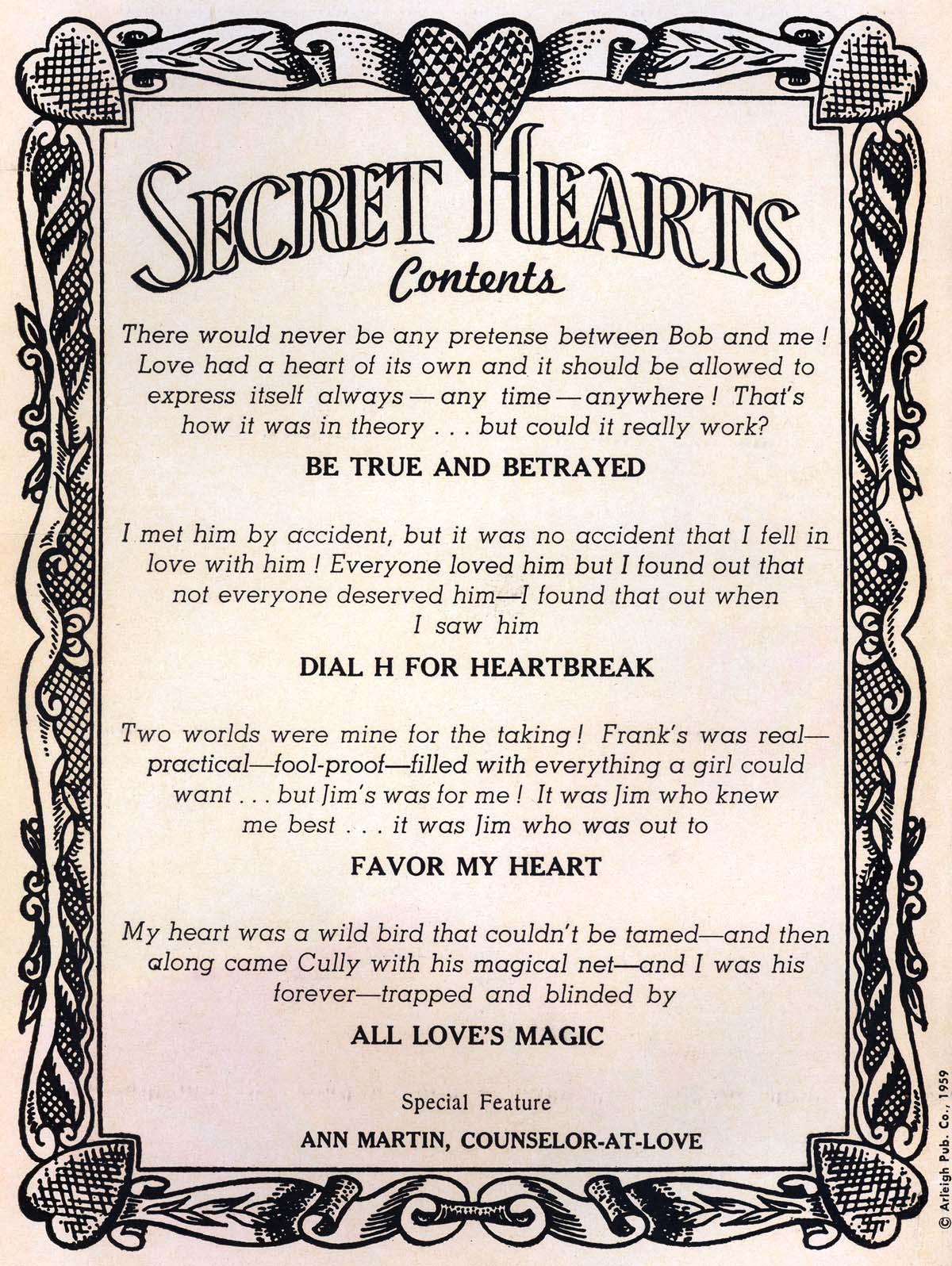 Read online Secret Hearts comic -  Issue #59 - 2