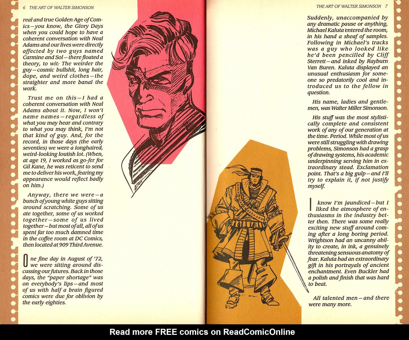 Read online The Art of Walter Simonson comic -  Issue # TPB - 5