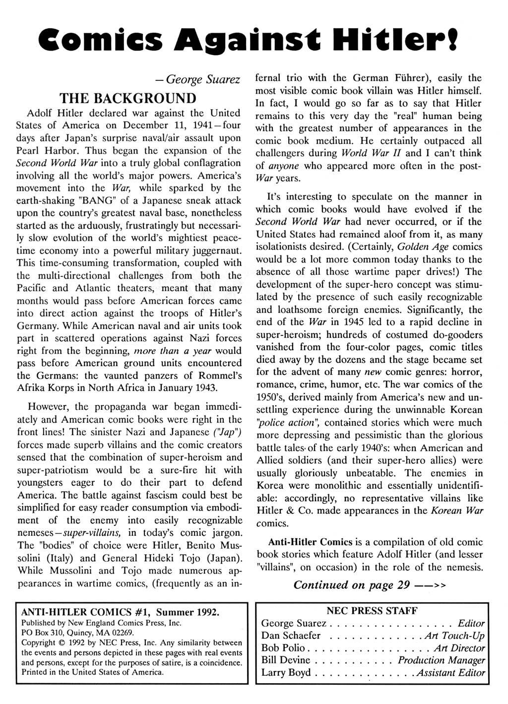 Anti-Hitler Comics Full Page 2