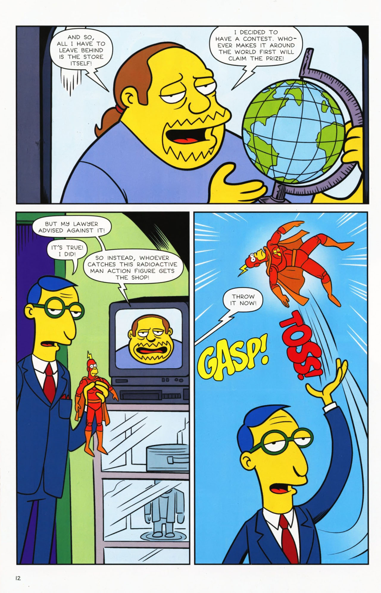 Read online Bongo Comics presents Comic Book Guy: The Comic Book comic -  Issue #2 - 14