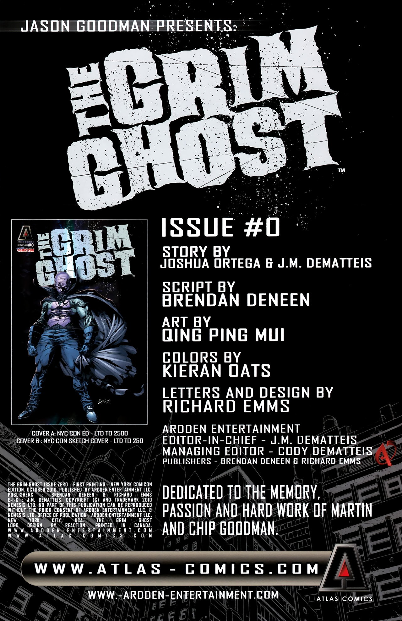 Read online The Grim Ghost comic -  Issue #0 - 3