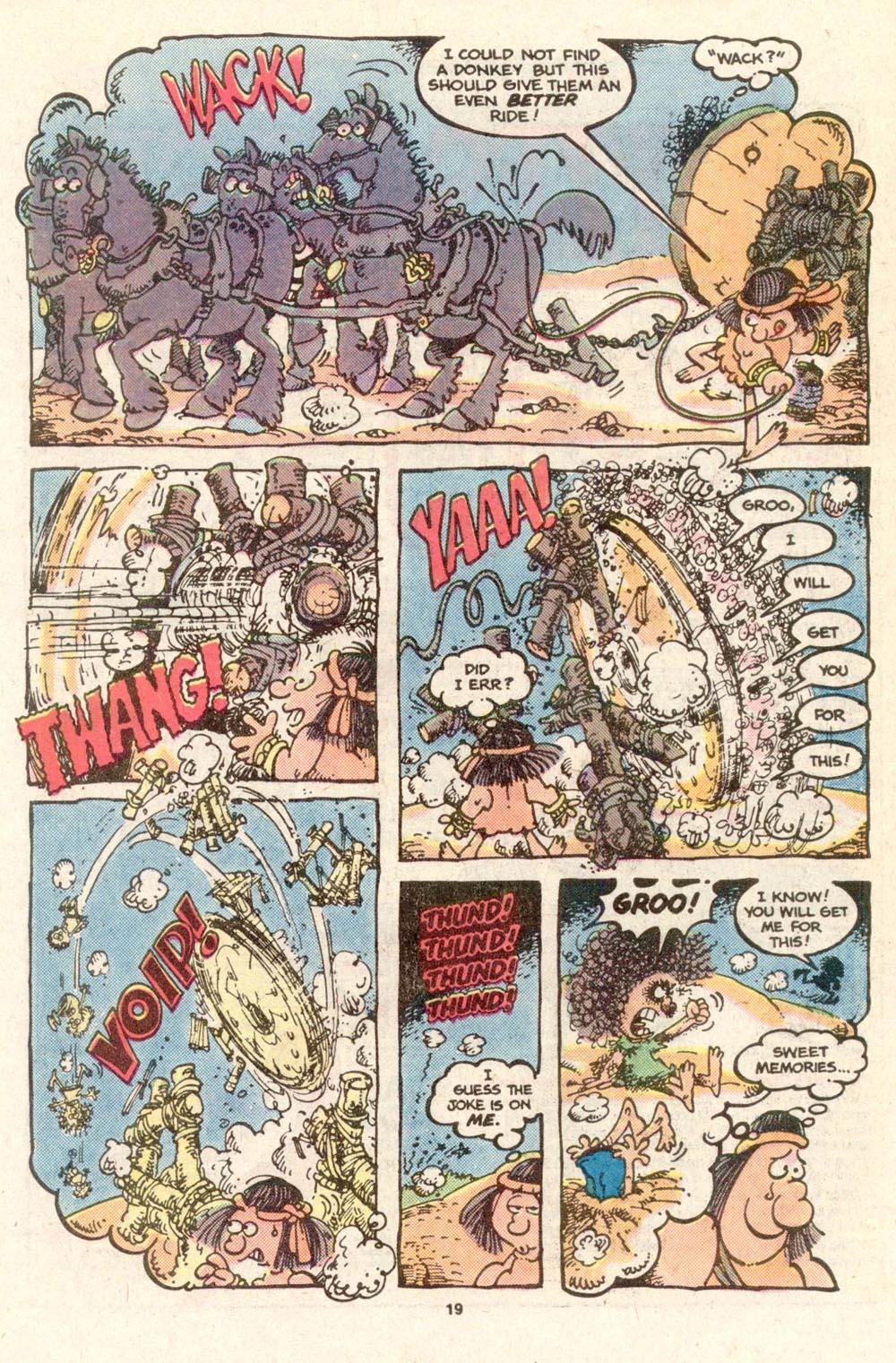Read online Sergio Aragonés Groo the Wanderer comic -  Issue #19 - 19