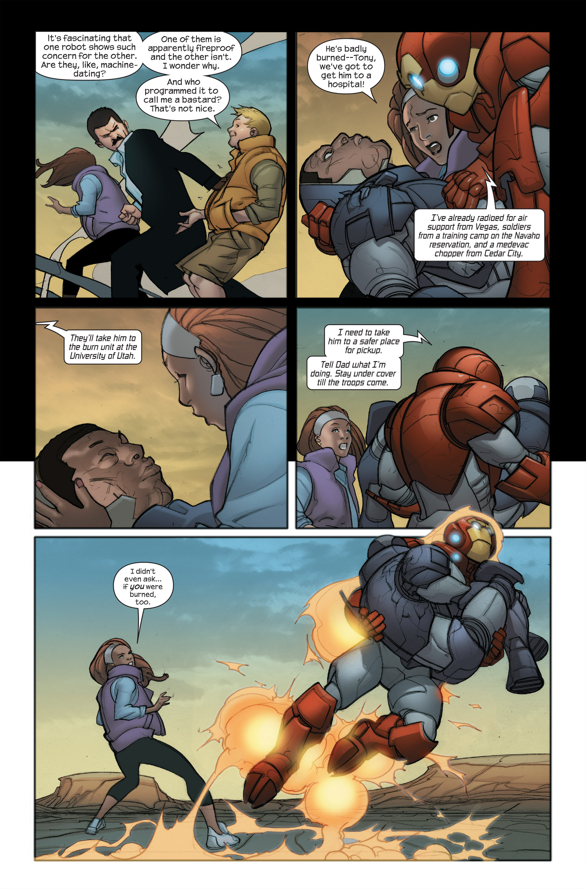 Read online Ultimate Iron Man II comic -  Issue #5 - 6