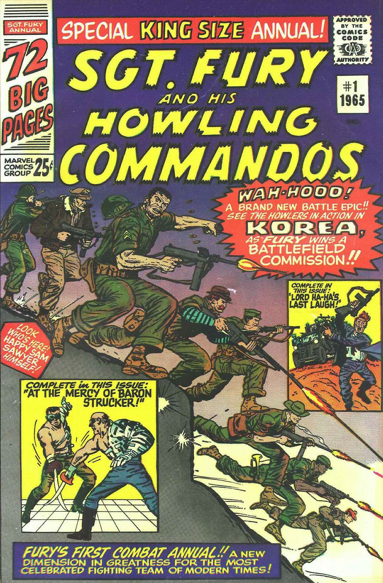 Read online Sgt. Fury comic -  Issue # _Annual 1 - 1