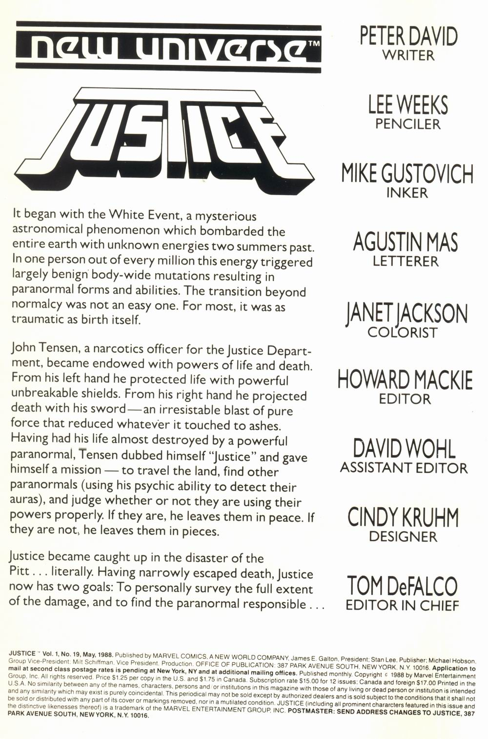 Read online Justice (1986) comic -  Issue #19 - 2