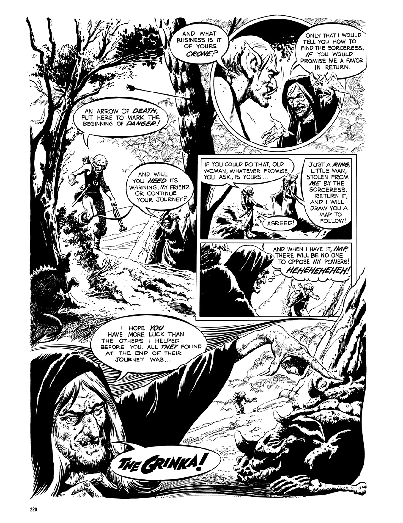 Read online Eerie Archives comic -  Issue # TPB 5 - 221