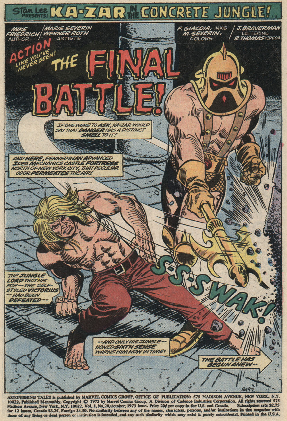 Read online Astonishing Tales (1970) comic -  Issue #20 - 2