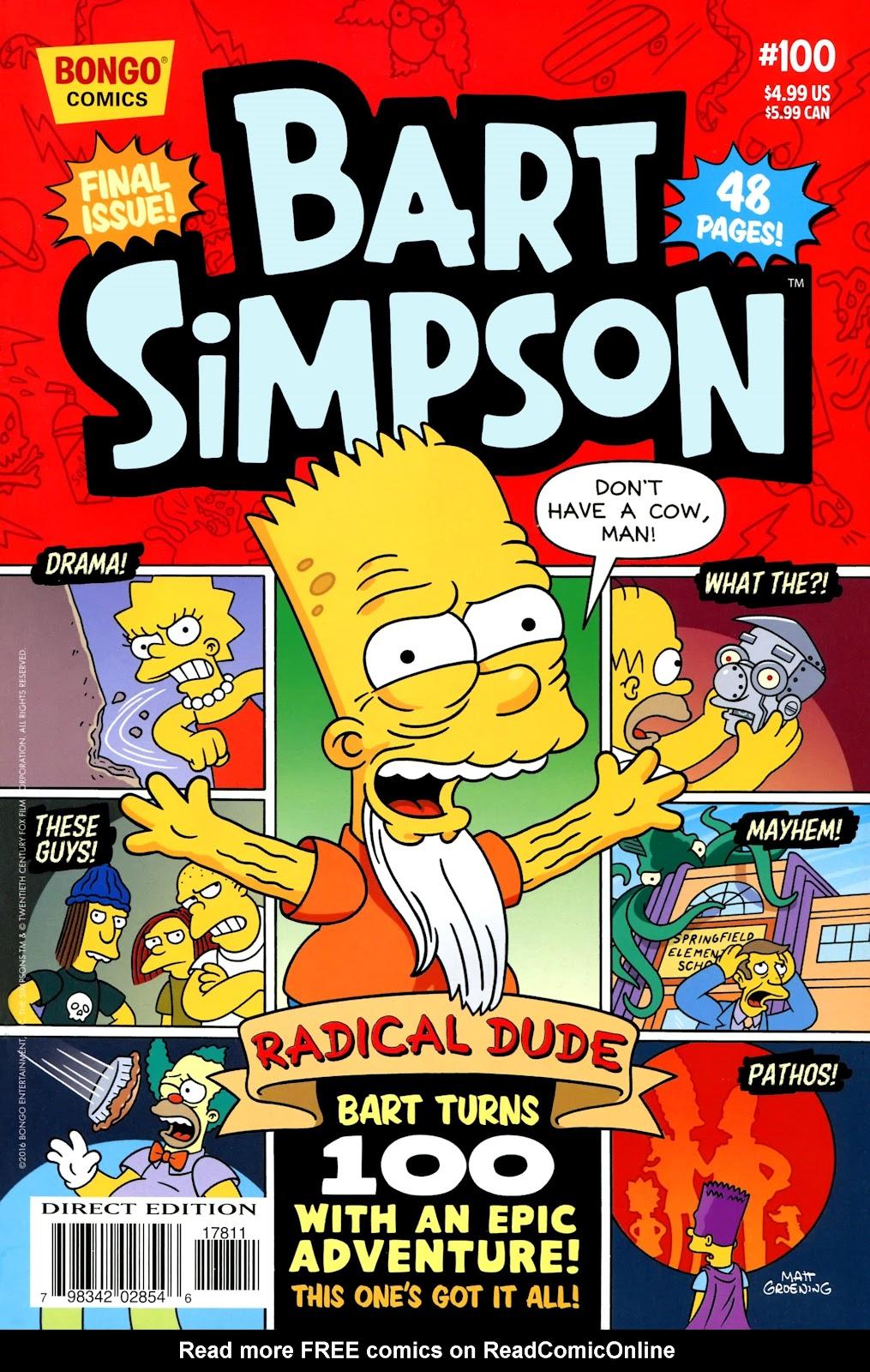 Simpsons Comics Presents Bart Simpson 100 Page 1