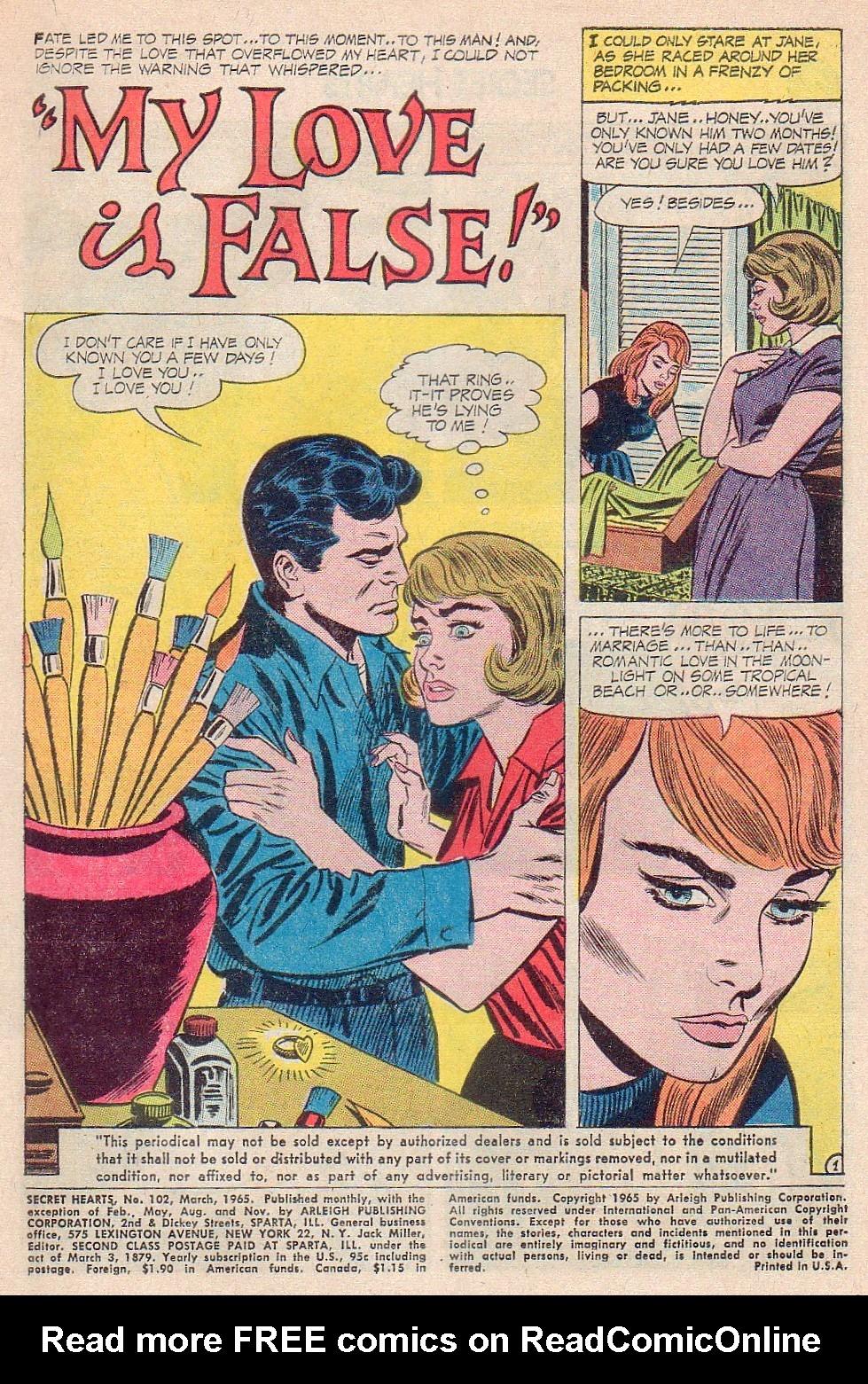 Read online Secret Hearts comic -  Issue #102 - 3