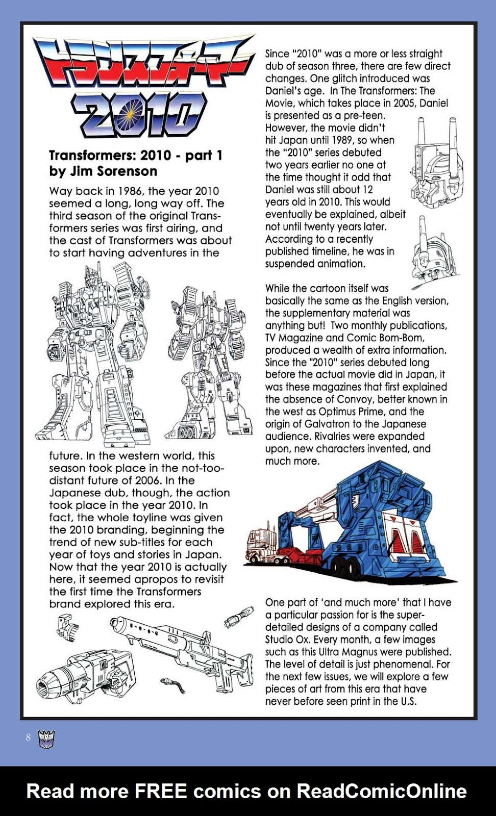 Read online Transformers: Collectors' Club comic -  Issue #31 - 8