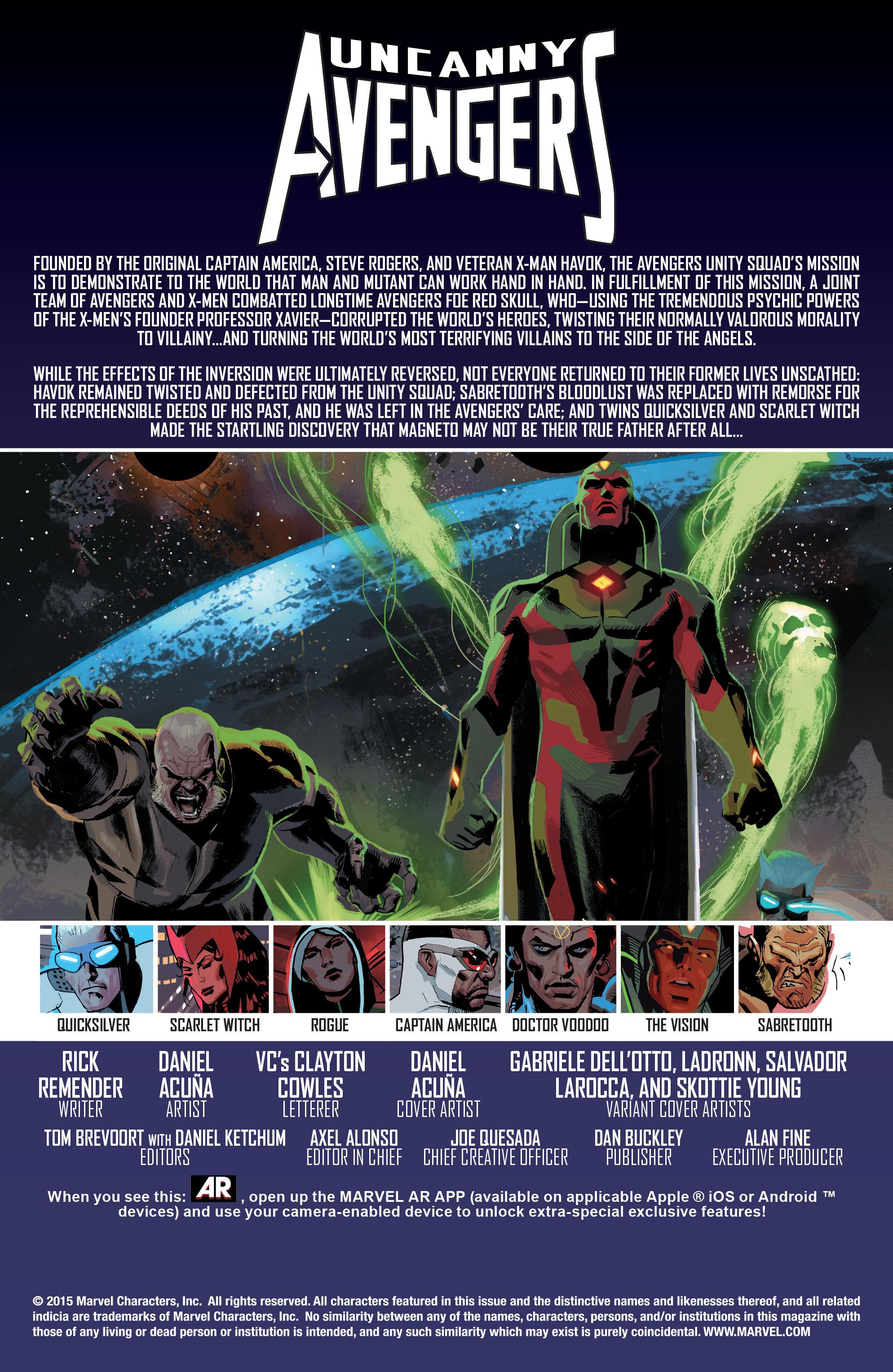 Read online Uncanny Avengers [I] comic -  Issue #1 - 8