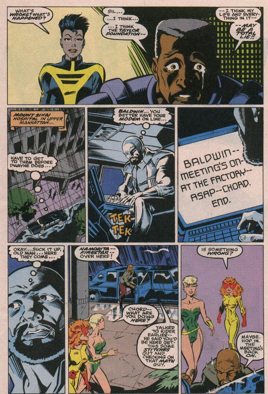 The New Warriors Issue #18 #22 - English 9