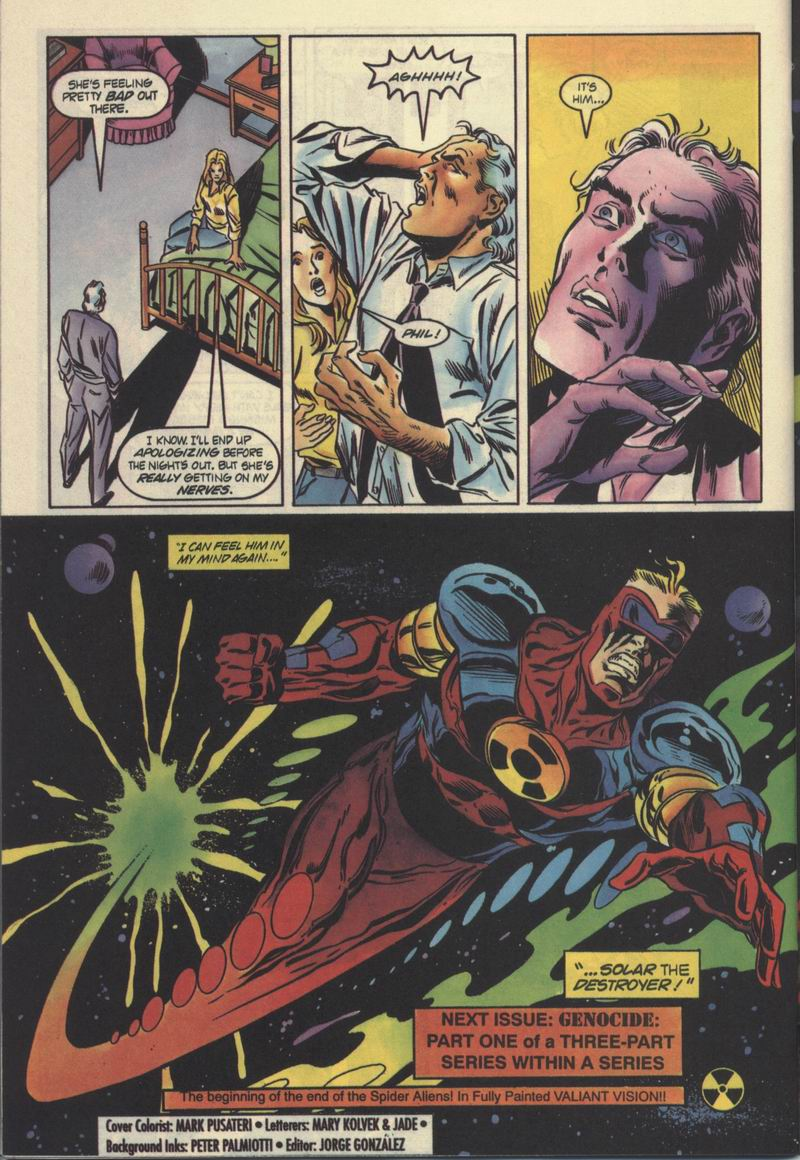 Read online Solar, Man of the Atom comic -  Issue #32 - 22