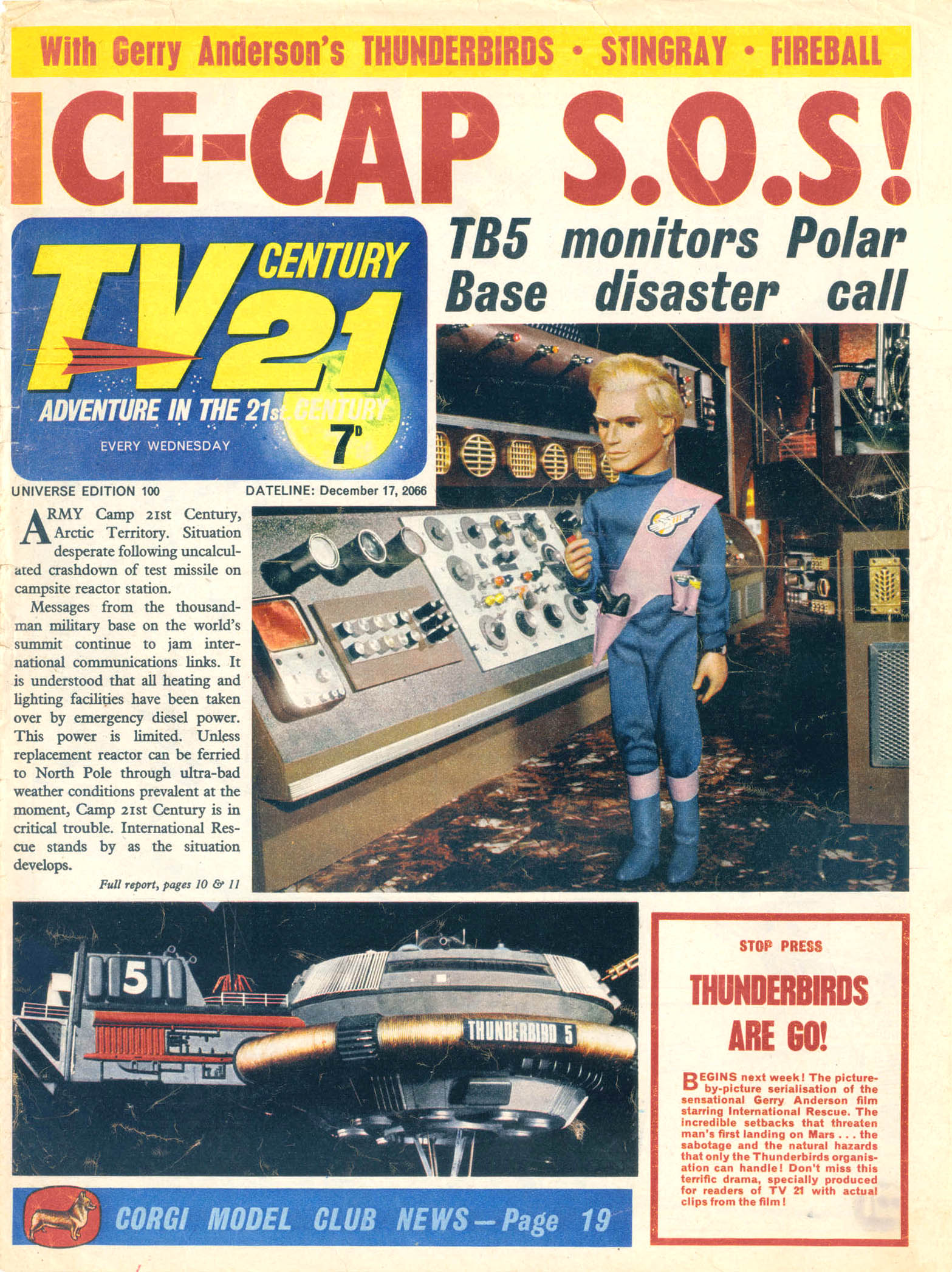 Read online TV Century 21 (TV 21) comic -  Issue #100 - 1