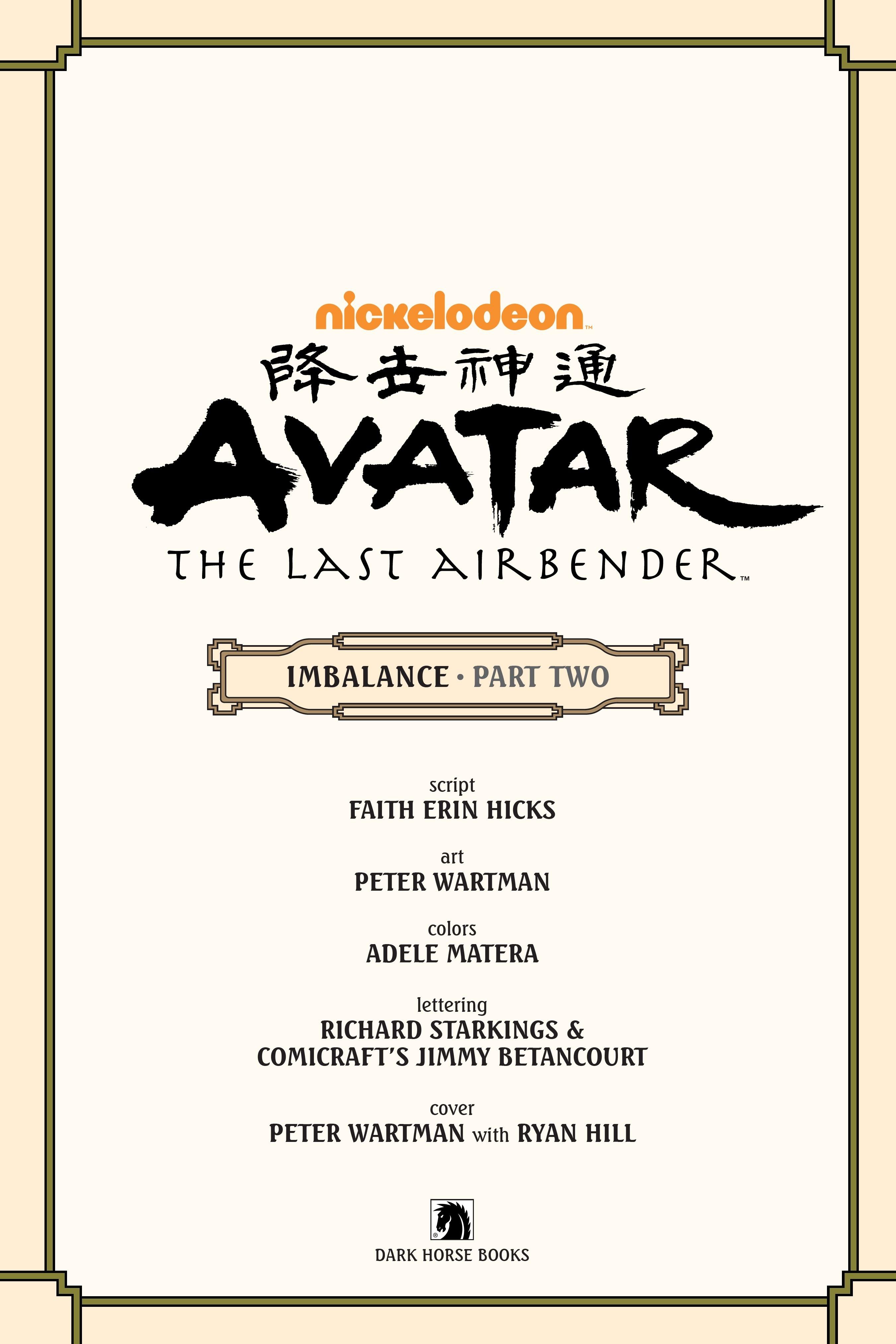 Nickelodeon Avatar: The Last Airbender - Imbalance TPB_2 Page 3